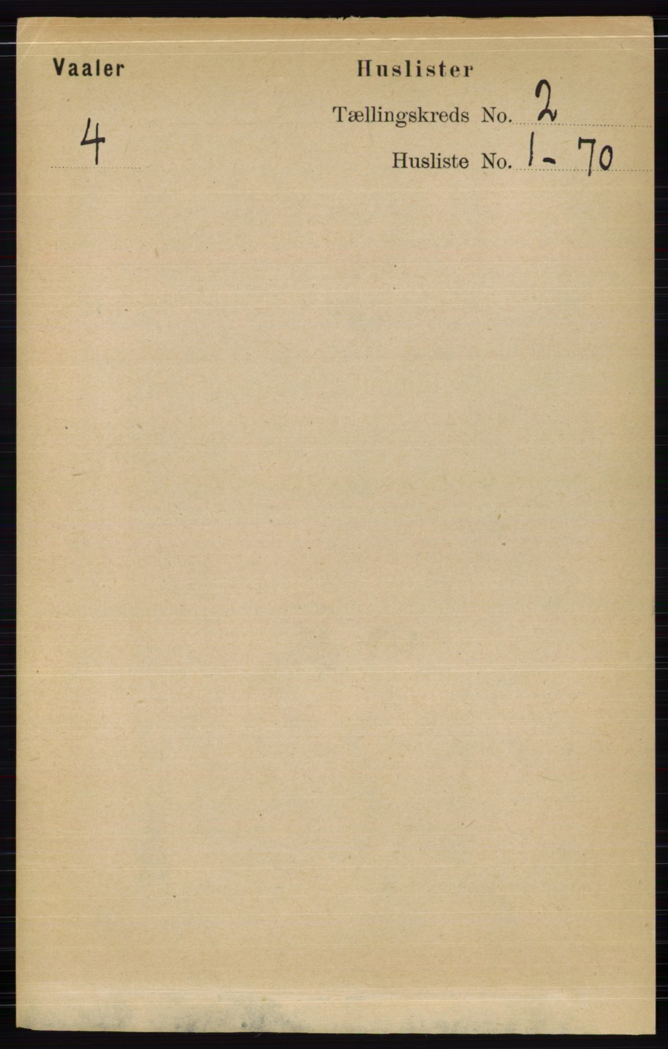 RA, Folketelling 1891 for 0426 Våler herred, 1891, s. 429