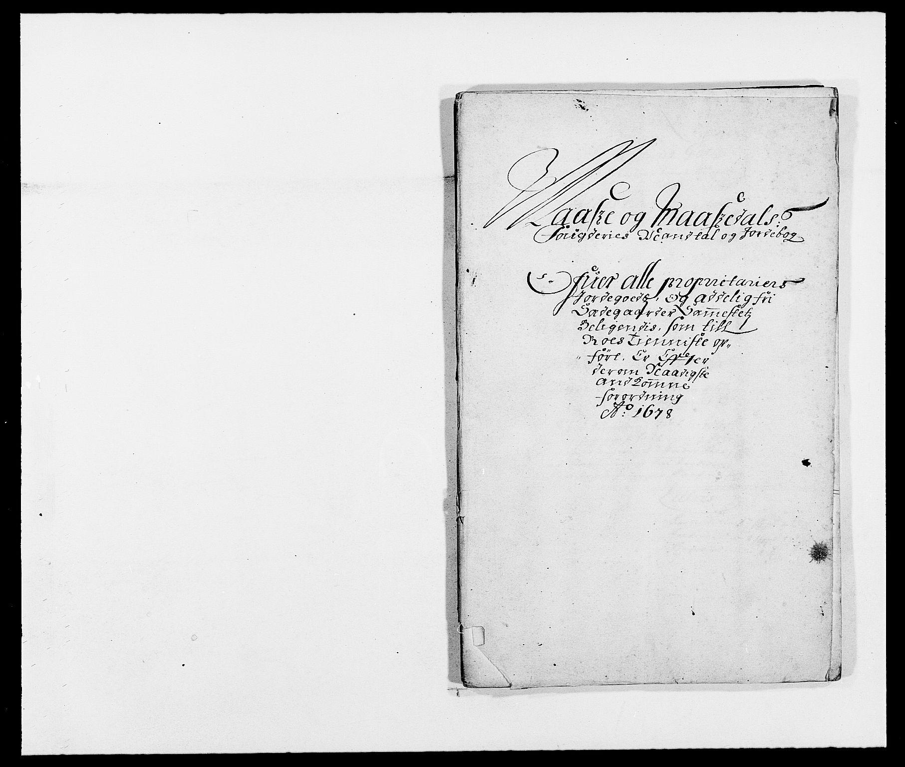 RA, Rentekammeret inntil 1814, Reviderte regnskaper, Fogderegnskap, R02/L0099: Fogderegnskap Moss og Verne kloster, 1678, s. 270
