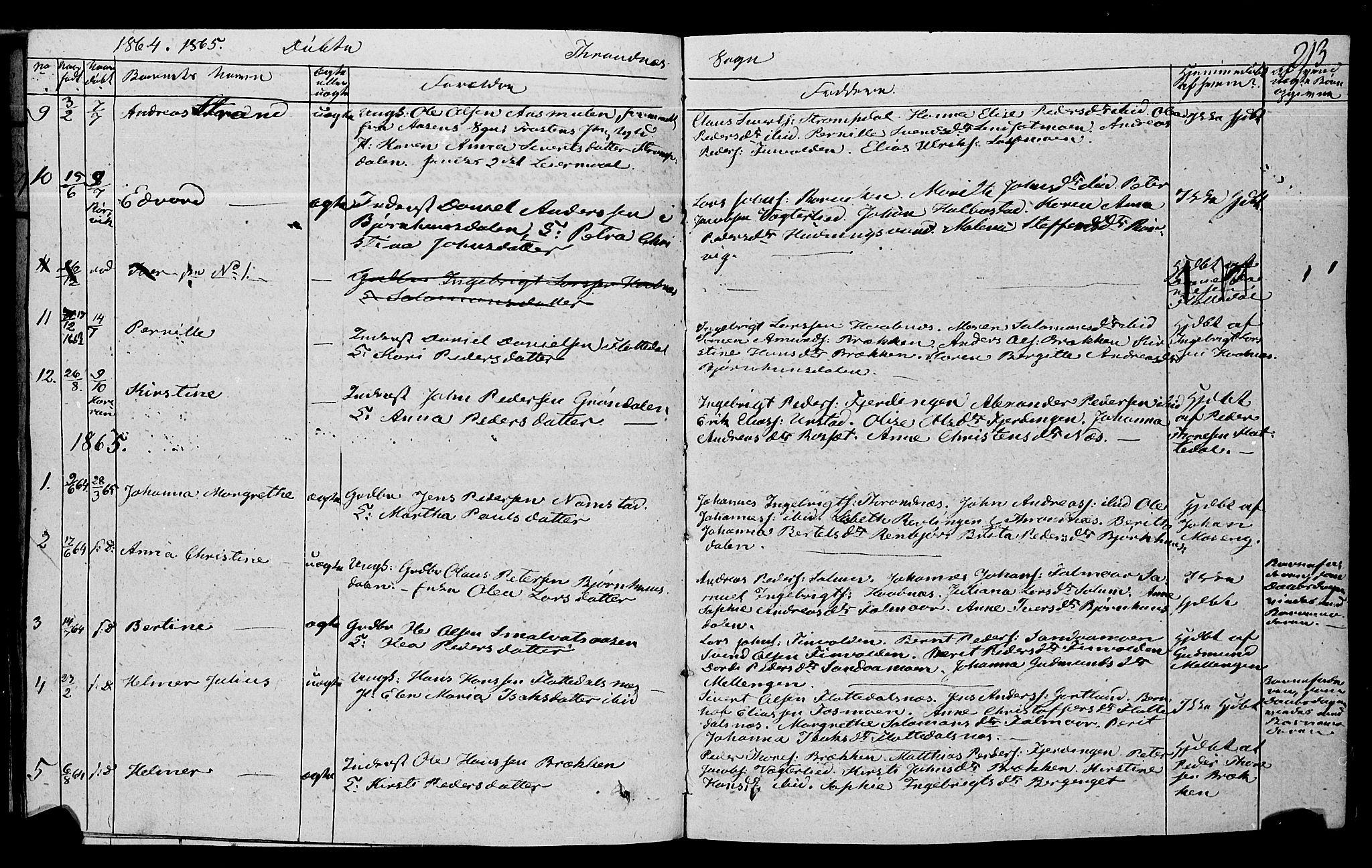 SAT, Ministerialprotokoller, klokkerbøker og fødselsregistre - Nord-Trøndelag, 762/L0538: Ministerialbok nr. 762A02 /2, 1833-1879, s. 213