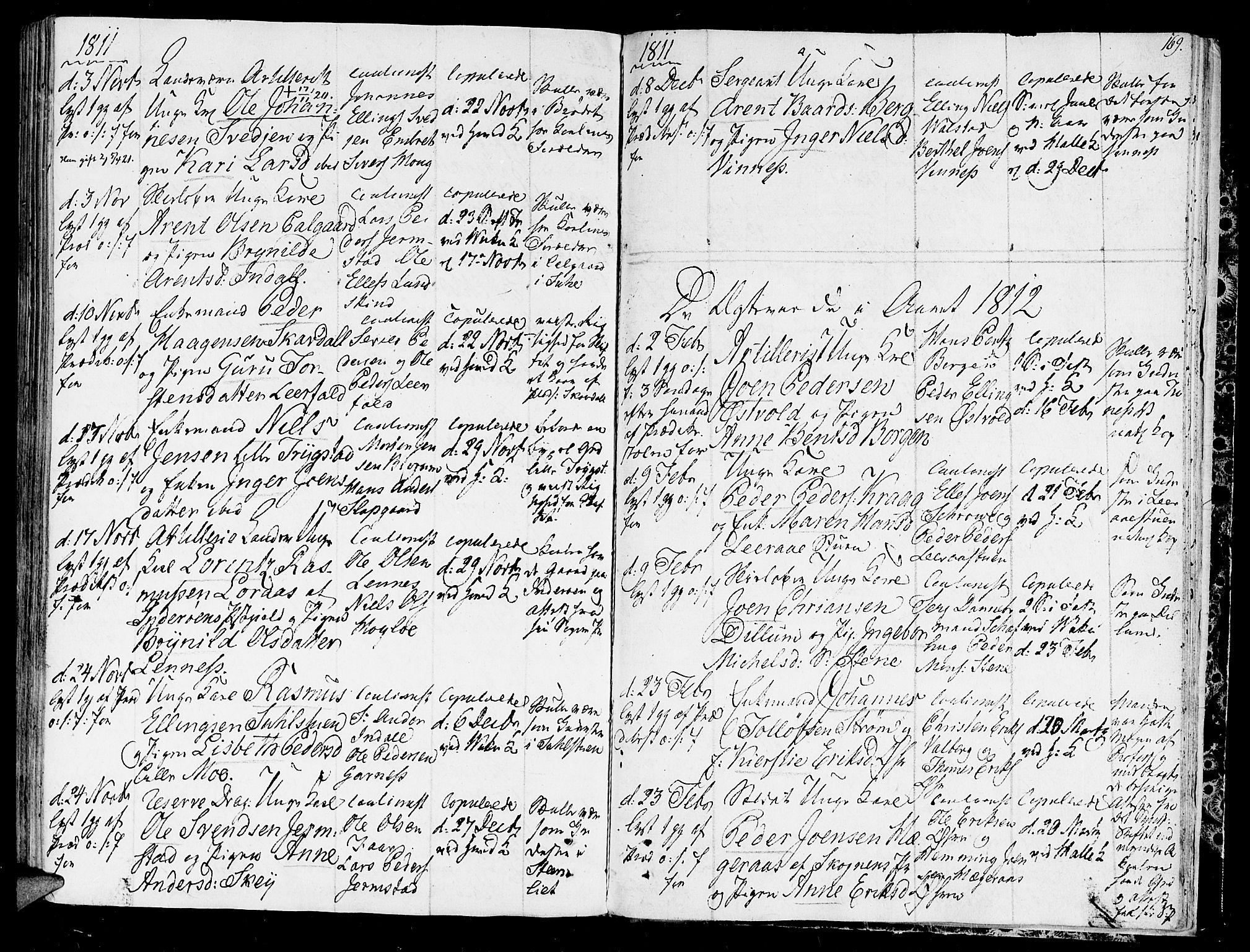 SAT, Ministerialprotokoller, klokkerbøker og fødselsregistre - Nord-Trøndelag, 723/L0233: Ministerialbok nr. 723A04, 1805-1816, s. 169
