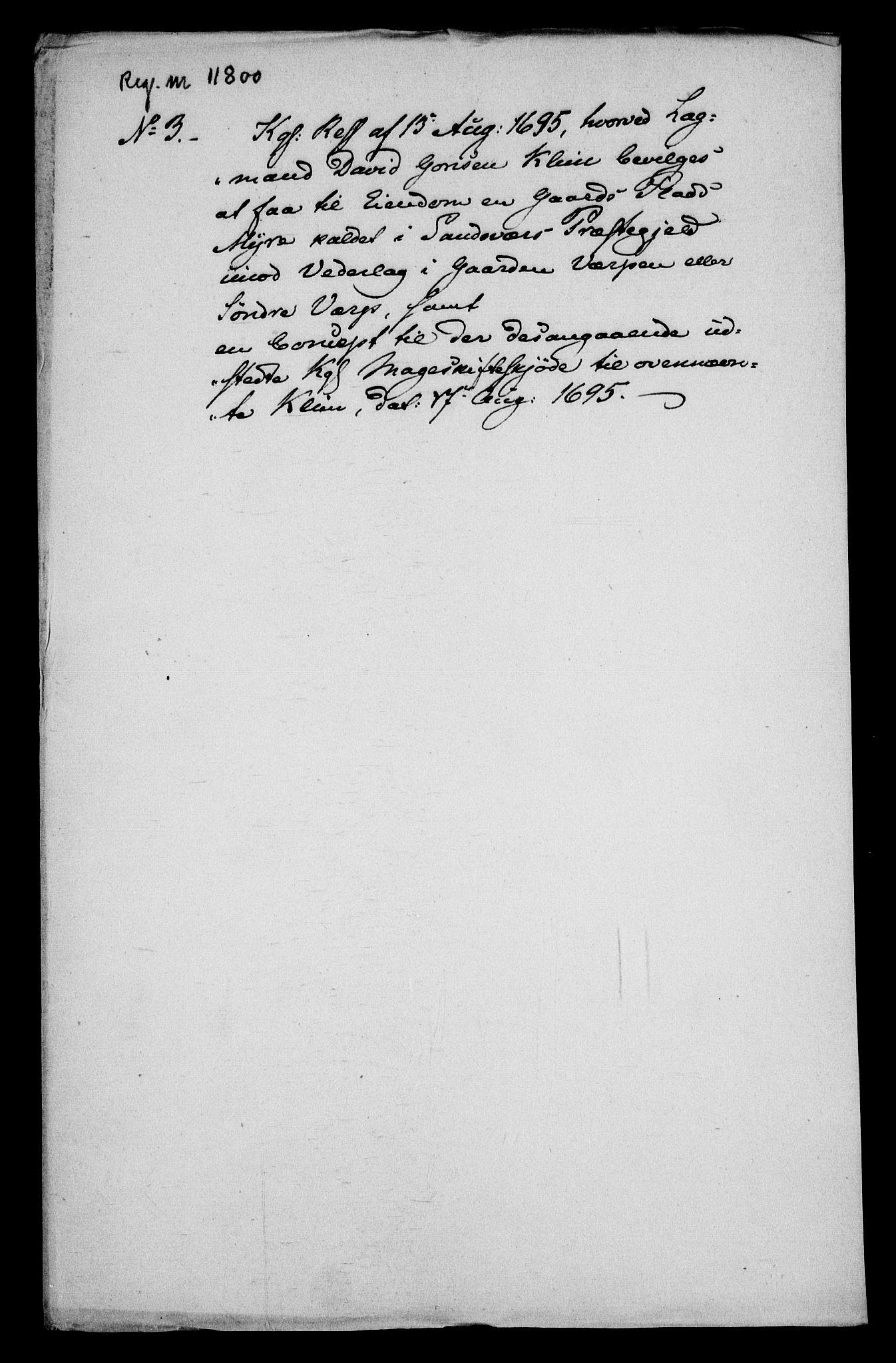 RA, Rentekammeret inntil 1814, Realistisk ordnet avdeling, On/L0013: [Jj 14]: Forskjellige dokumenter om krongodset i Norge, 1672-1722, s. 209
