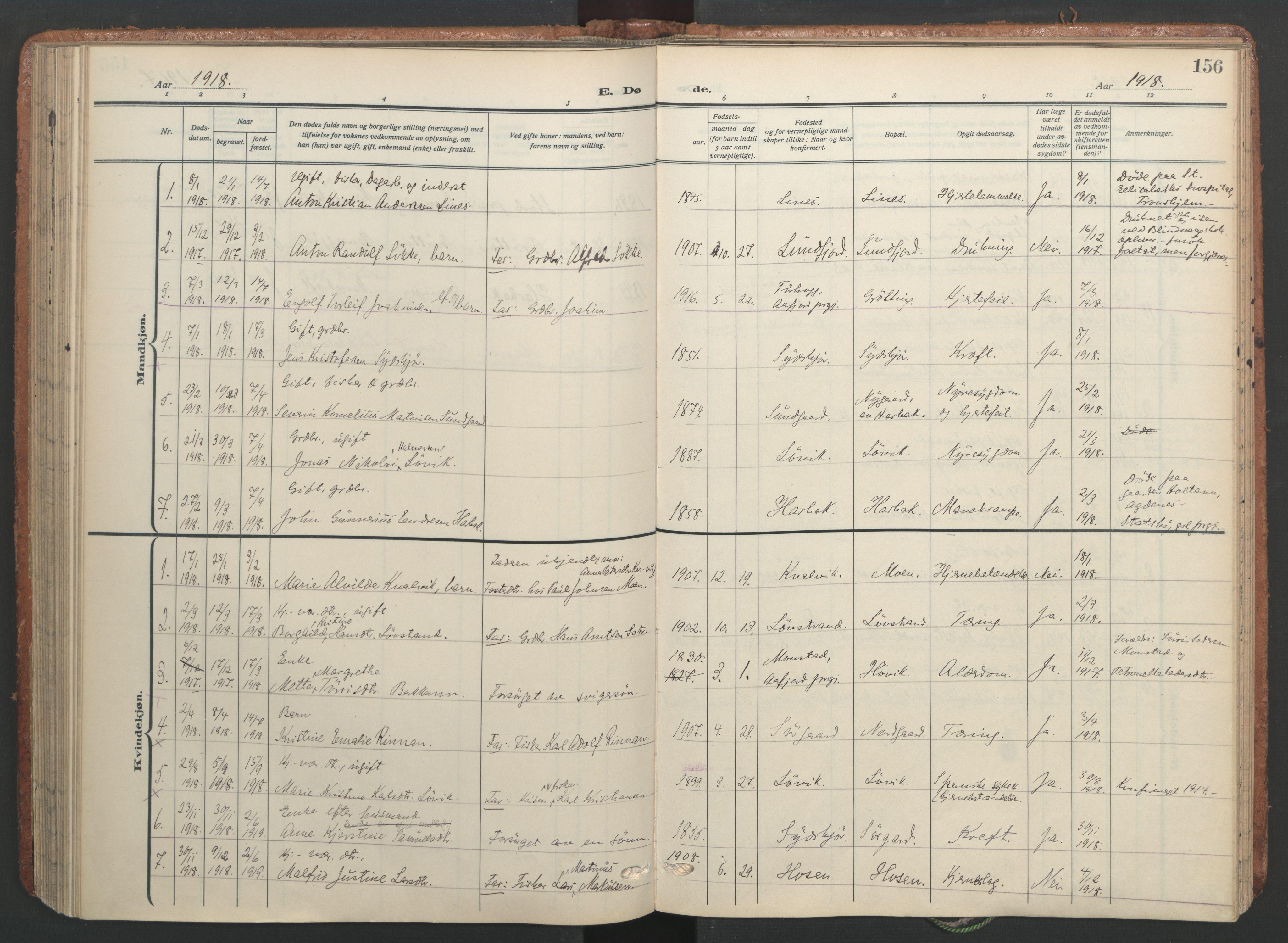 SAT, Ministerialprotokoller, klokkerbøker og fødselsregistre - Sør-Trøndelag, 656/L0694: Ministerialbok nr. 656A03, 1914-1931, s. 156