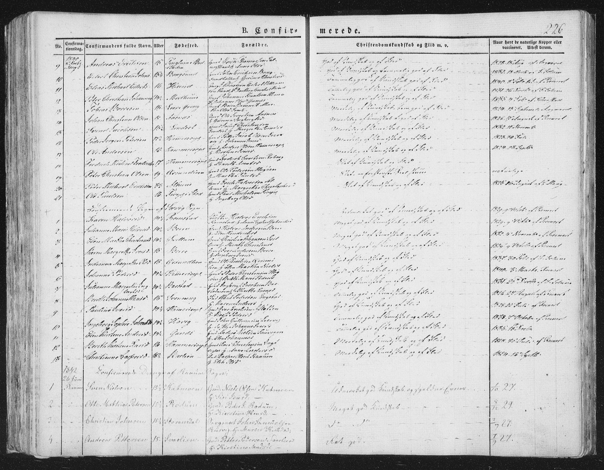 SAT, Ministerialprotokoller, klokkerbøker og fødselsregistre - Nord-Trøndelag, 764/L0551: Ministerialbok nr. 764A07a, 1824-1864, s. 226