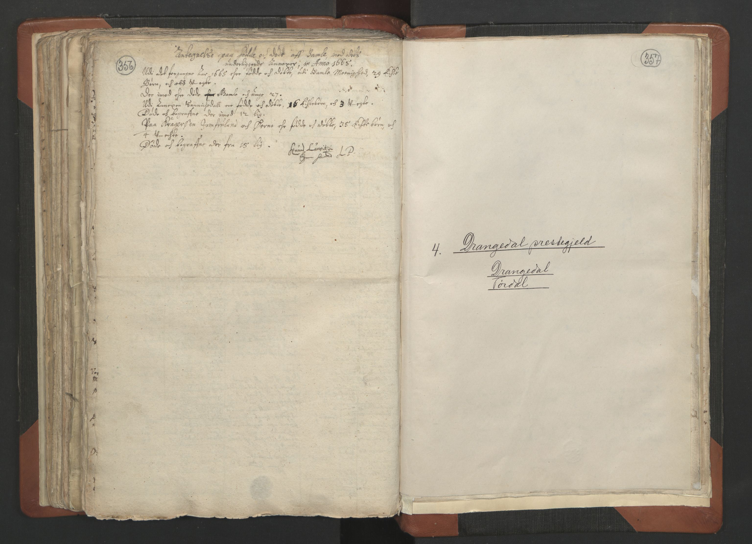 RA, Sogneprestenes manntall 1664-1666, nr. 12: Øvre Telemark prosti, Nedre Telemark prosti og Bamble prosti, 1664-1666, s. 356-357