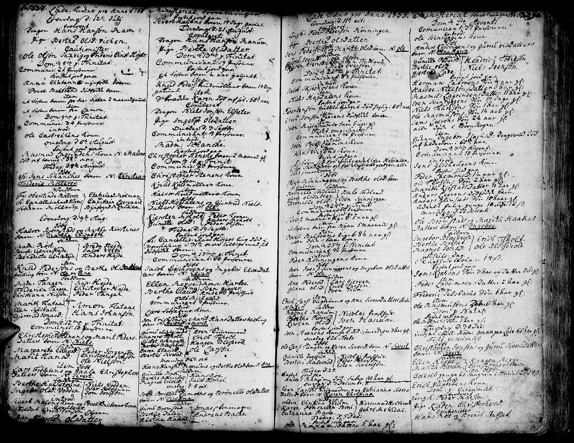 SAT, Ministerialprotokoller, klokkerbøker og fødselsregistre - Sør-Trøndelag, 606/L0275: Ministerialbok nr. 606A01 /1, 1727-1780, s. 338-339
