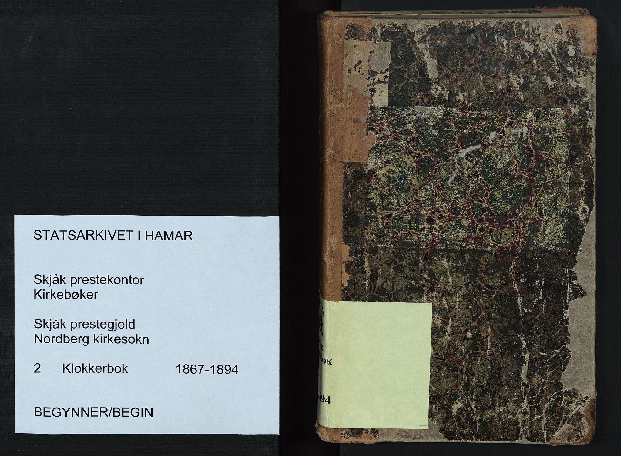 SAH, Skjåk prestekontor, Klokkerbok nr. 2, 1867-1894