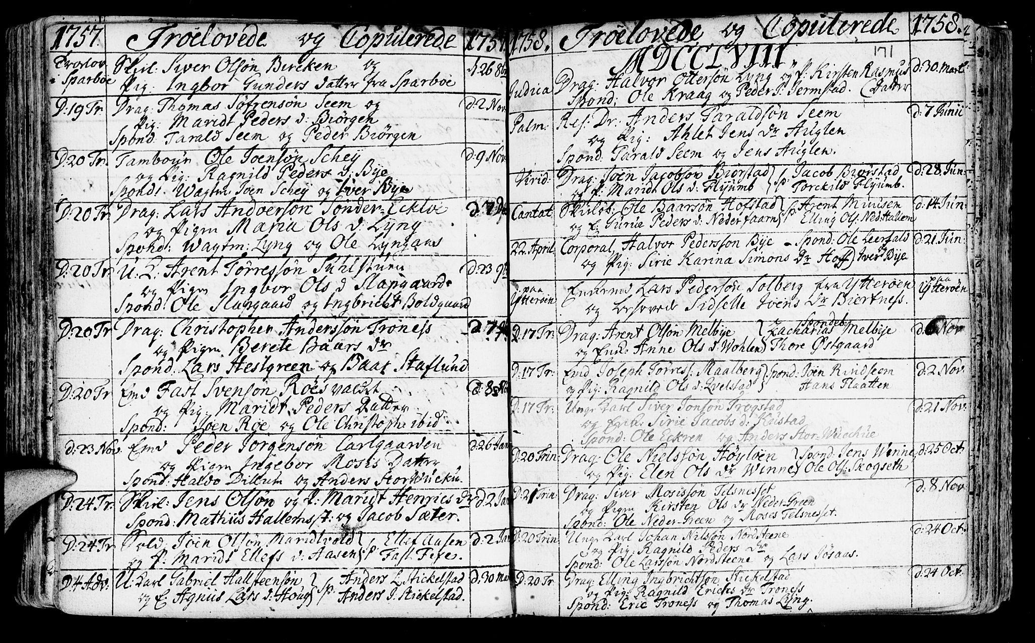 SAT, Ministerialprotokoller, klokkerbøker og fødselsregistre - Nord-Trøndelag, 723/L0231: Ministerialbok nr. 723A02, 1748-1780, s. 171