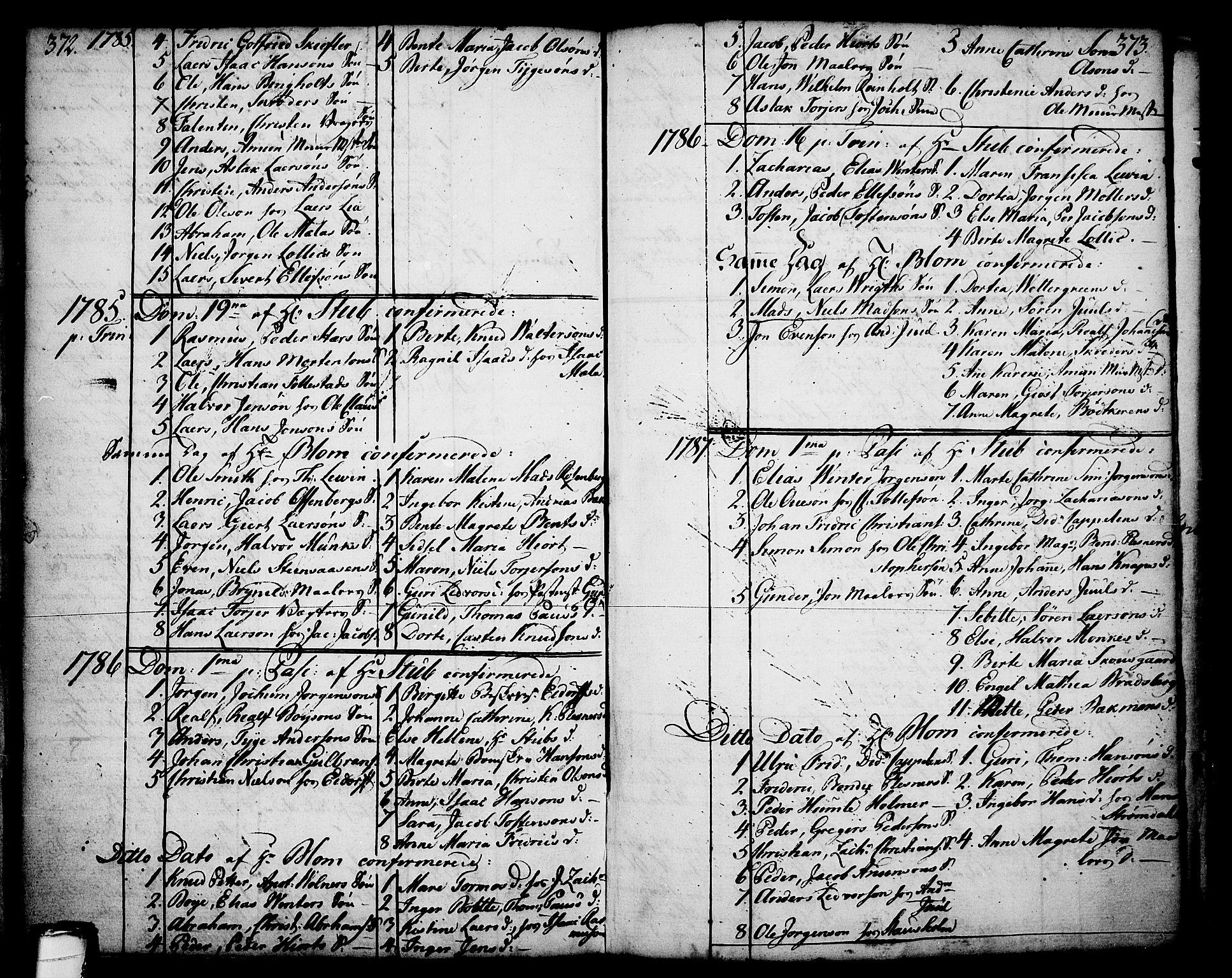 SAKO, Skien kirkebøker, F/Fa/L0003: Ministerialbok nr. 3, 1755-1791, s. 372-373
