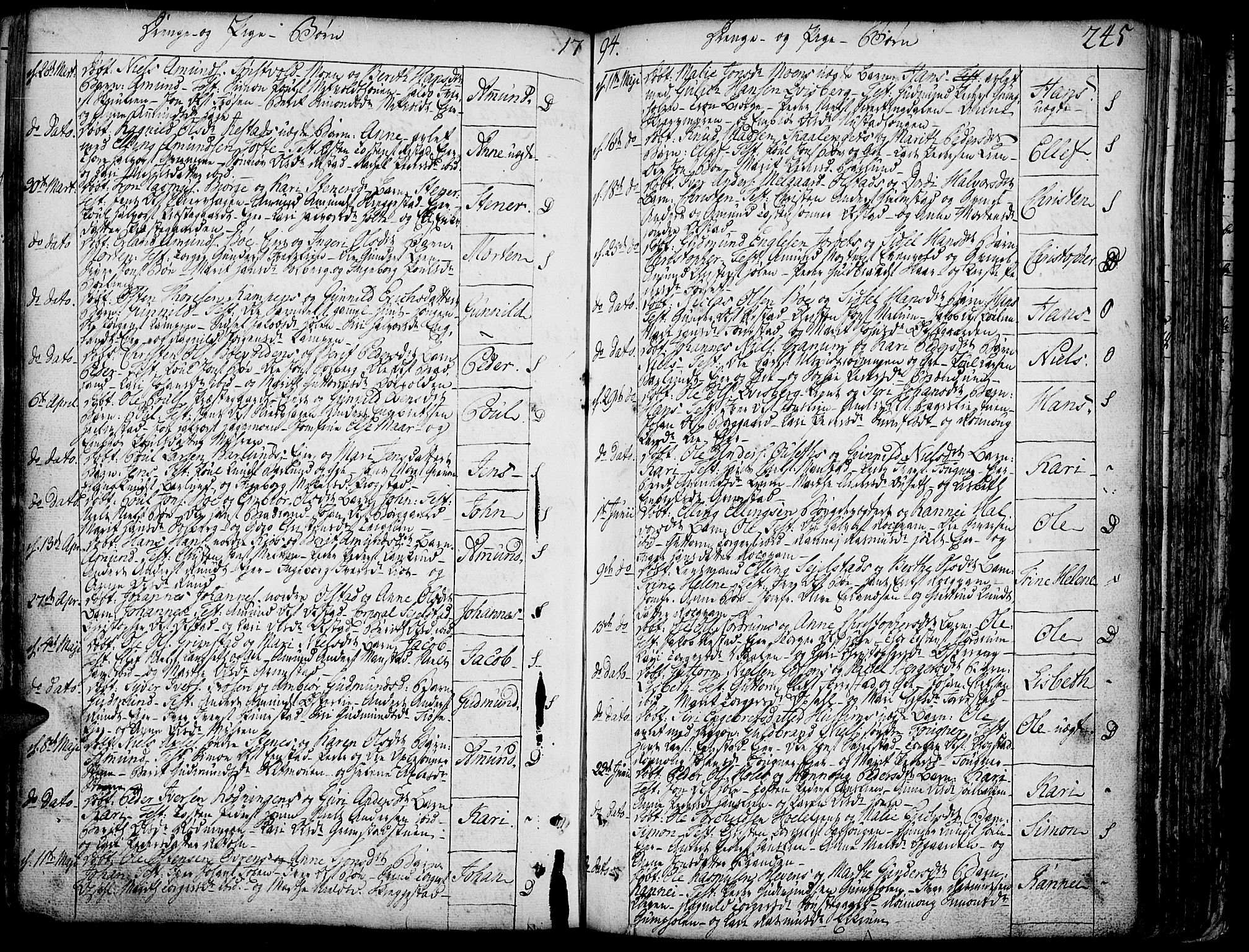 SAH, Gausdal prestekontor, Ministerialbok nr. 3, 1758-1809, s. 245
