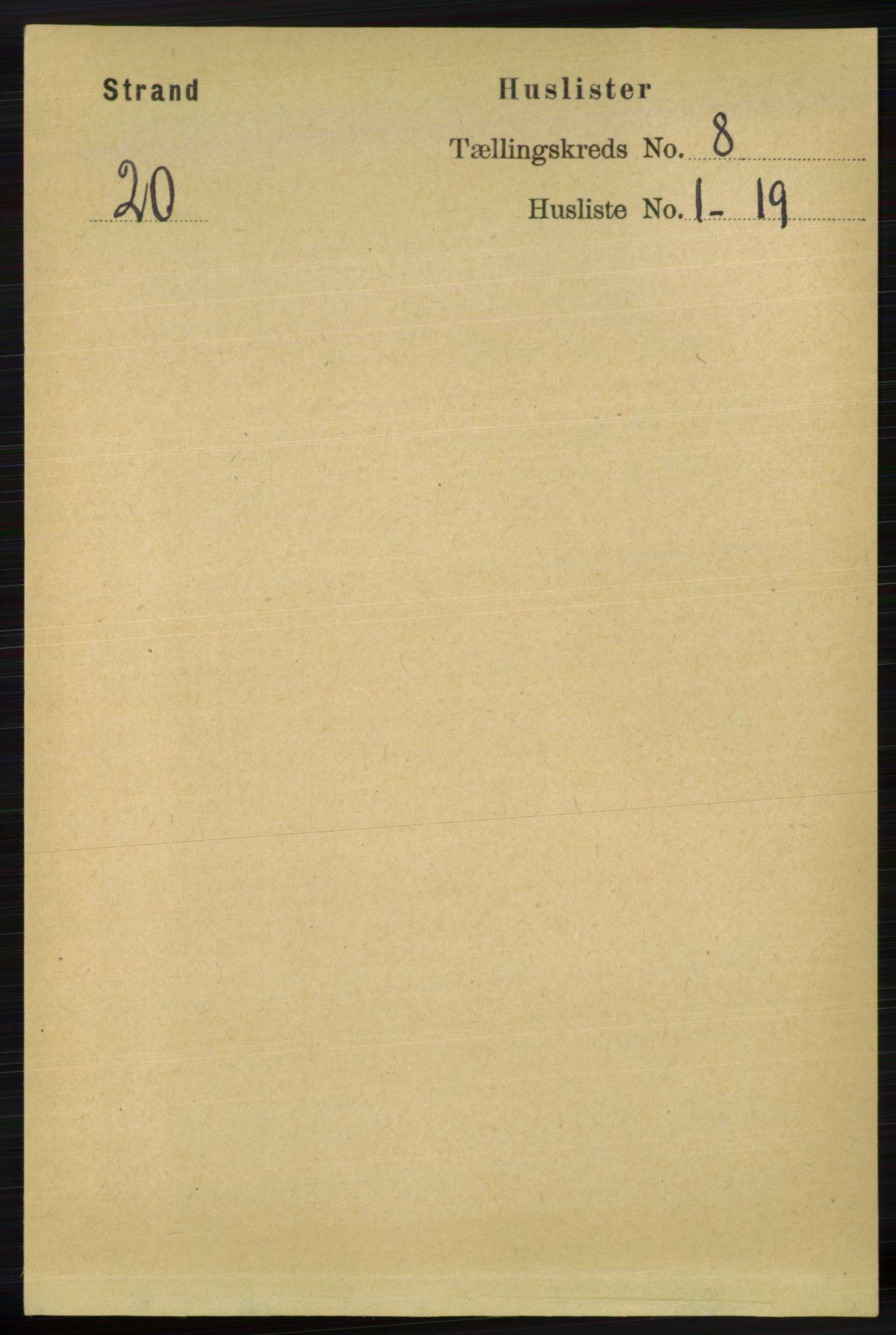 RA, Folketelling 1891 for 1130 Strand herred, 1891, s. 2478