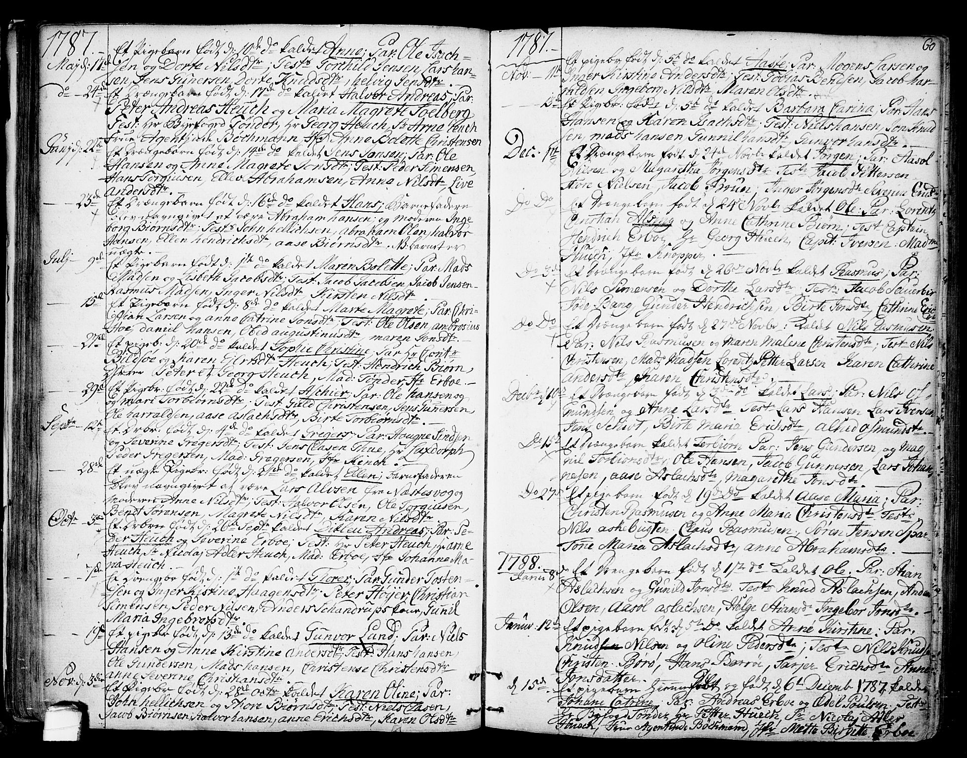 SAKO, Kragerø kirkebøker, F/Fa/L0002: Ministerialbok nr. 2, 1767-1802, s. 60