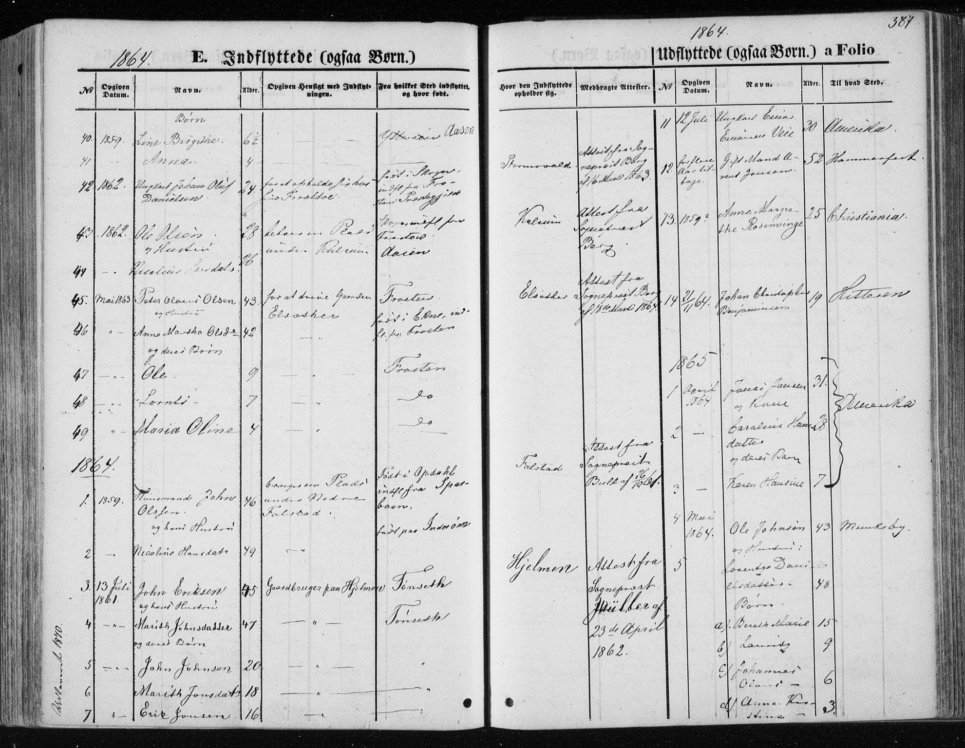SAT, Ministerialprotokoller, klokkerbøker og fødselsregistre - Nord-Trøndelag, 717/L0157: Ministerialbok nr. 717A08 /1, 1863-1877, s. 387