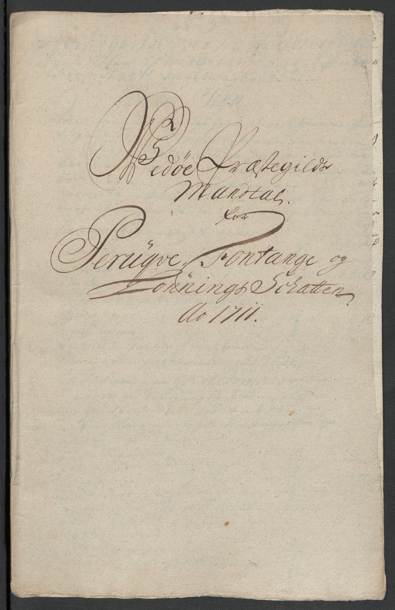 RA, Rentekammeret inntil 1814, Reviderte regnskaper, Fogderegnskap, R55/L3660: Fogderegnskap Romsdal, 1711, s. 164