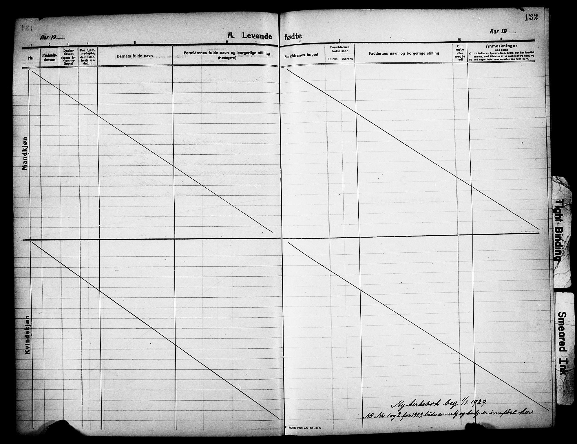SAH, Lillehammer prestekontor, Klokkerbok nr. 2, 1913-1929, s. 132