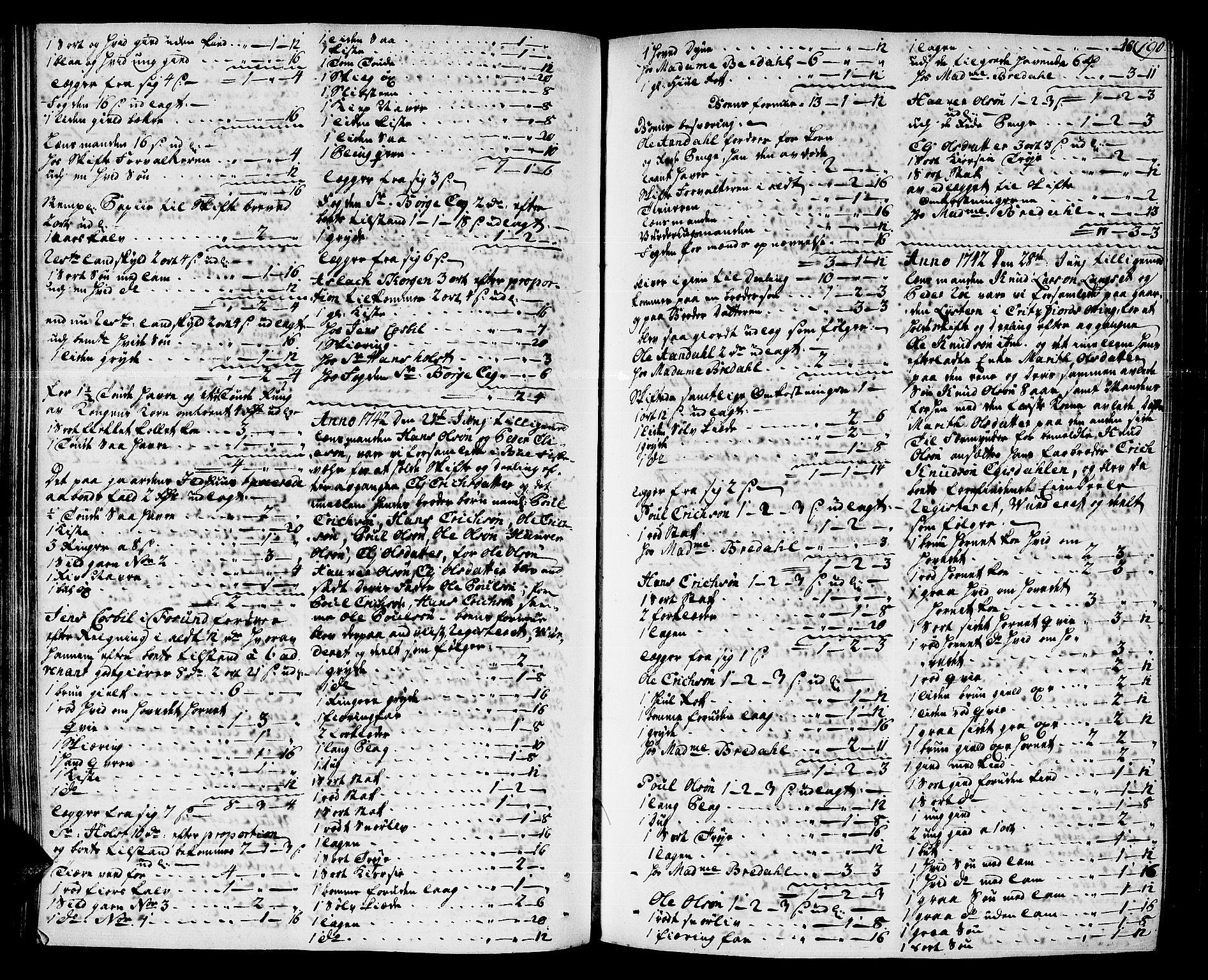 SAT, Romsdal sorenskriveri, 3/3A/L0007: Skifteprotokoll, 1740-1751, s. 189b-190a