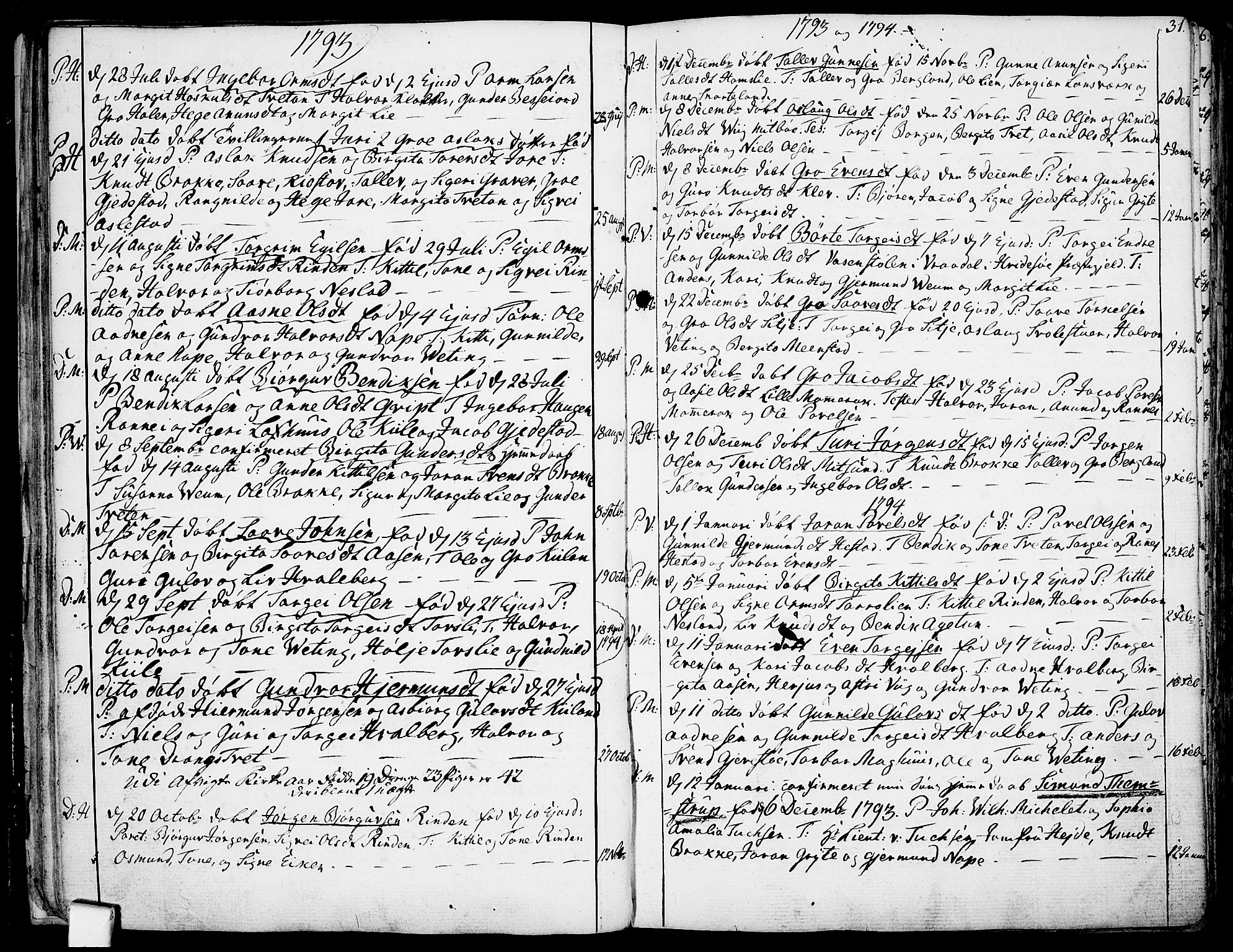 SAKO, Fyresdal kirkebøker, F/Fa/L0002: Ministerialbok nr. I 2, 1769-1814, s. 31