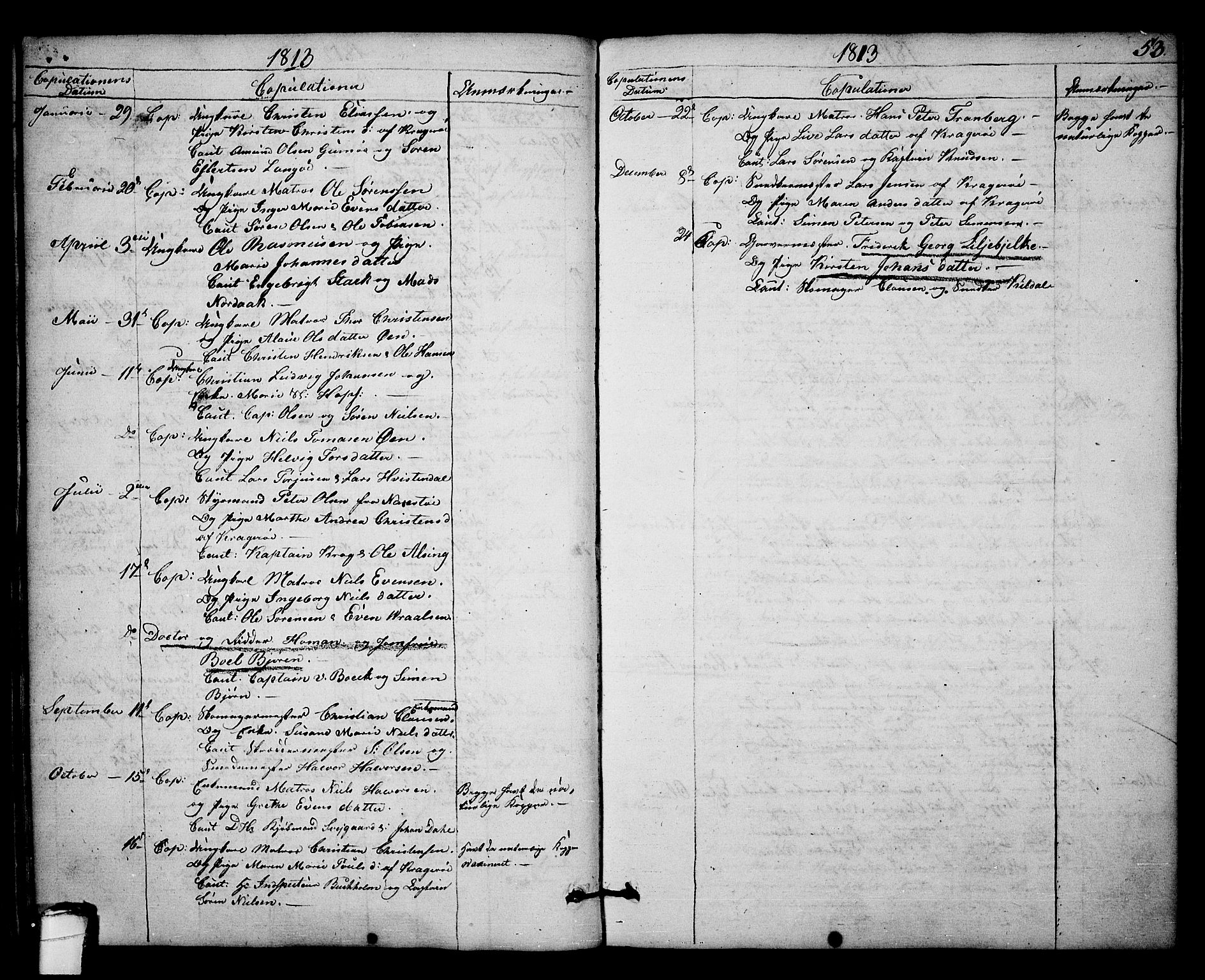 SAKO, Kragerø kirkebøker, F/Fa/L0003: Ministerialbok nr. 3, 1802-1813, s. 53