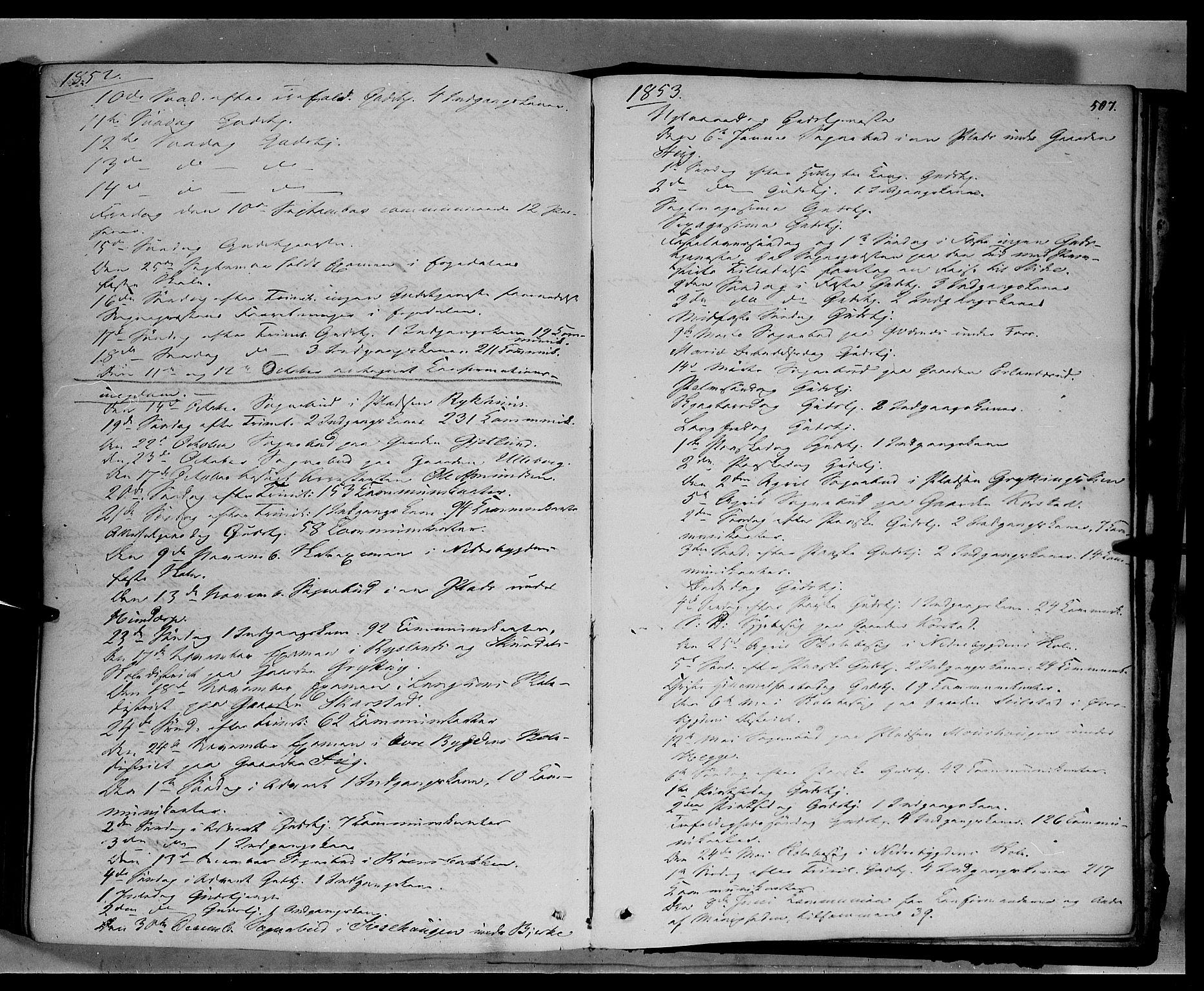 SAH, Sør-Fron prestekontor, H/Ha/Haa/L0001: Ministerialbok nr. 1, 1849-1863, s. 507