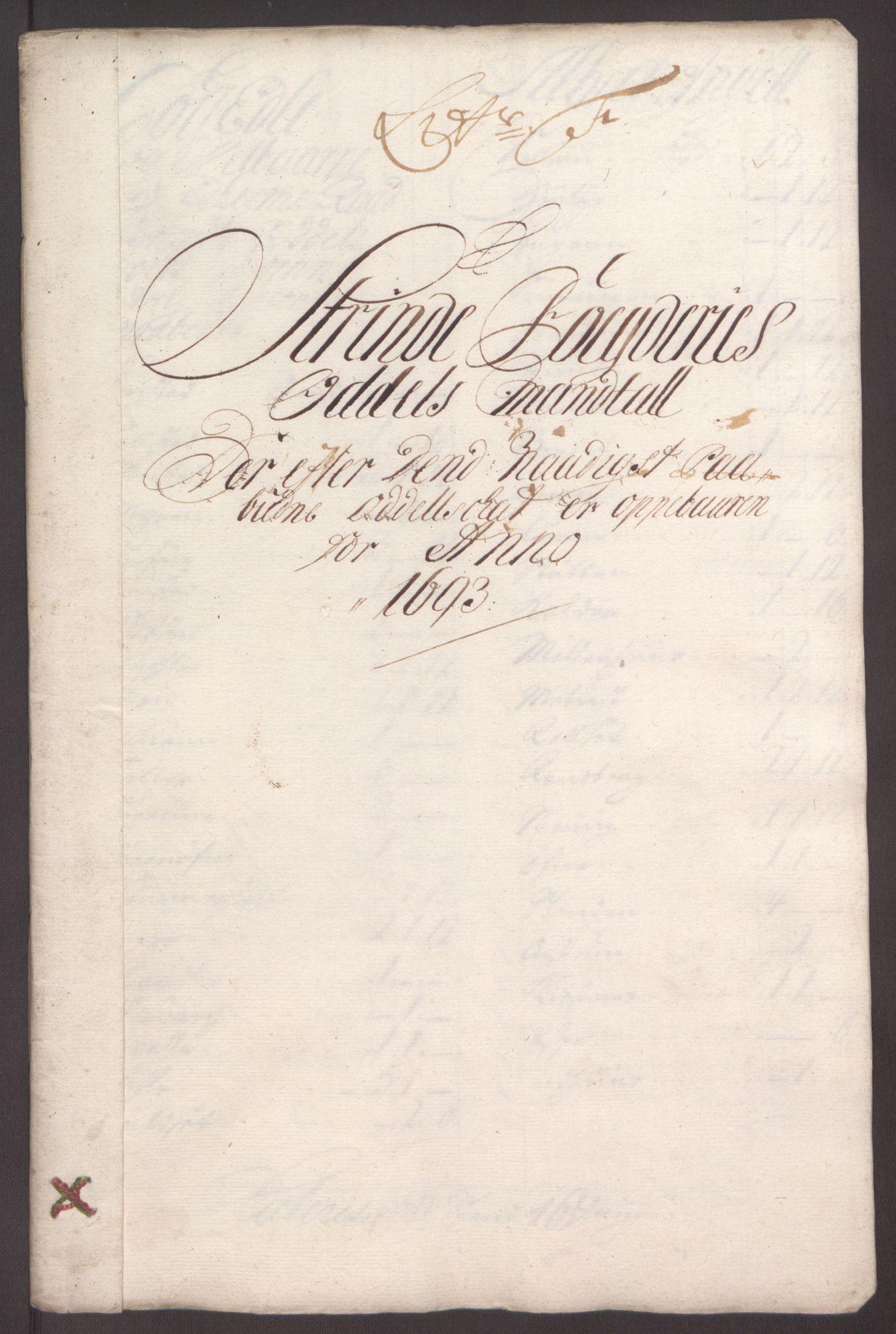RA, Rentekammeret inntil 1814, Reviderte regnskaper, Fogderegnskap, R61/L4104: Fogderegnskap Strinda og Selbu, 1693-1694, s. 75