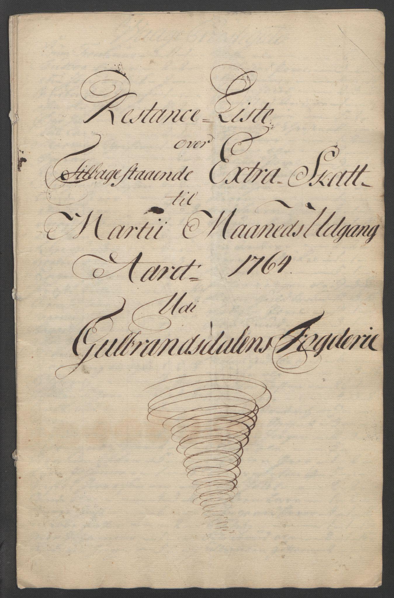 RA, Rentekammeret inntil 1814, Reviderte regnskaper, Fogderegnskap, R17/L1266: Ekstraskatten Gudbrandsdal, 1762-1766, s. 449