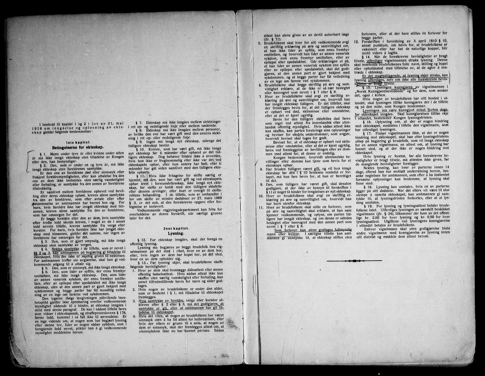 SAKO, Bø kirkebøker, H/Ha/L0001: Lysningsprotokoll nr. 1, 1920-1964