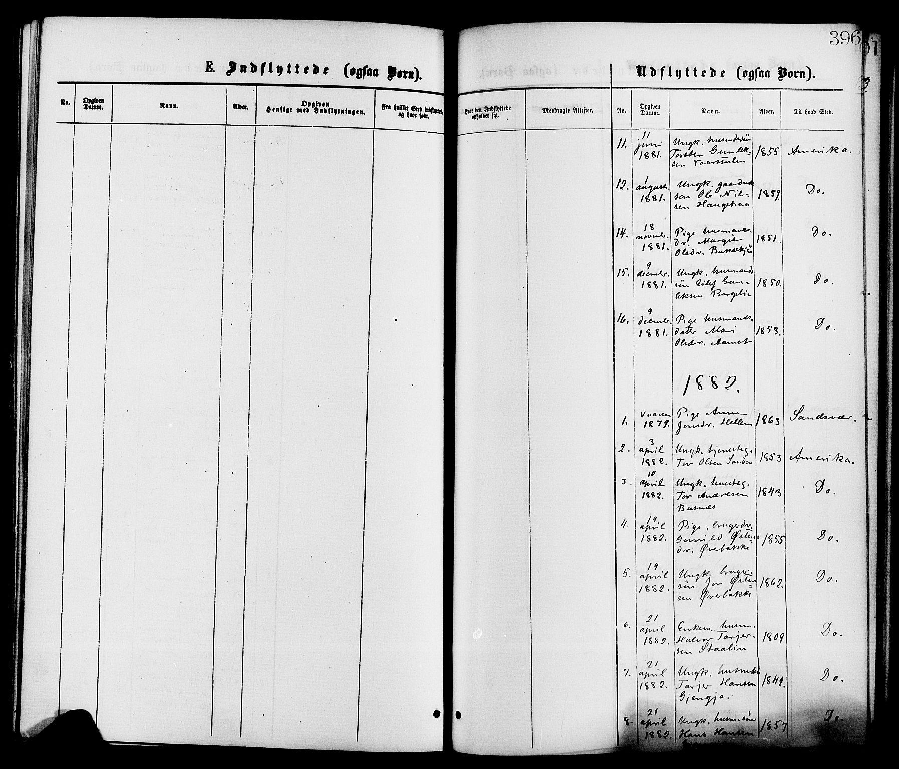 SAKO, Gransherad kirkebøker, F/Fa/L0004: Ministerialbok nr. I 4, 1871-1886, s. 396