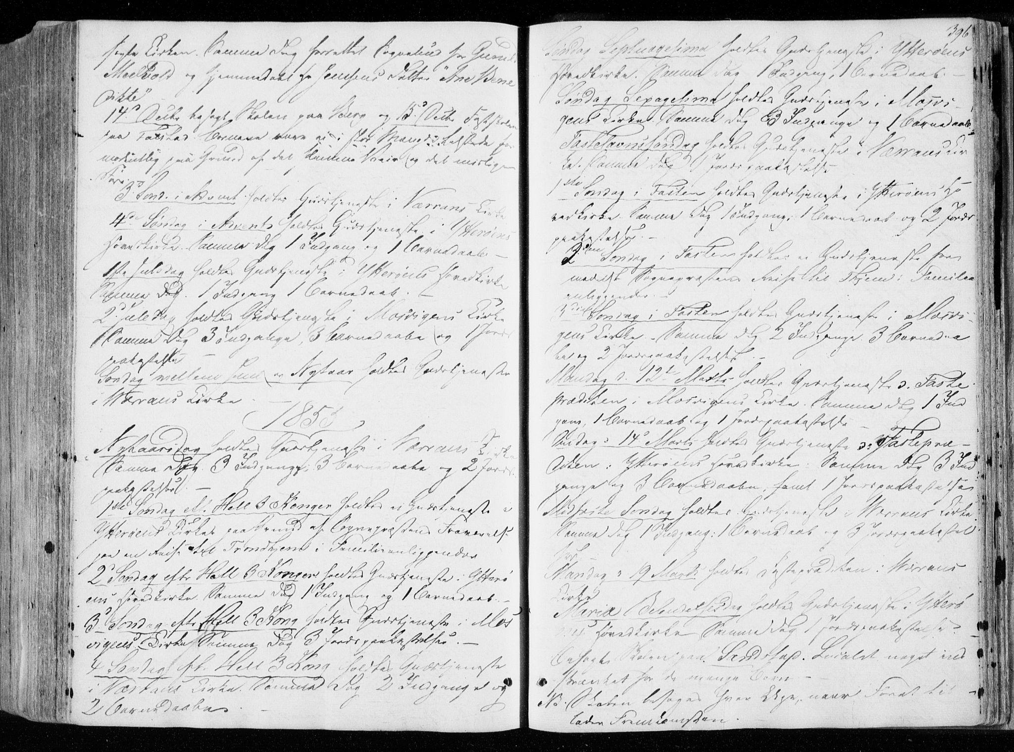 SAT, Ministerialprotokoller, klokkerbøker og fødselsregistre - Nord-Trøndelag, 722/L0218: Ministerialbok nr. 722A05, 1843-1868, s. 396