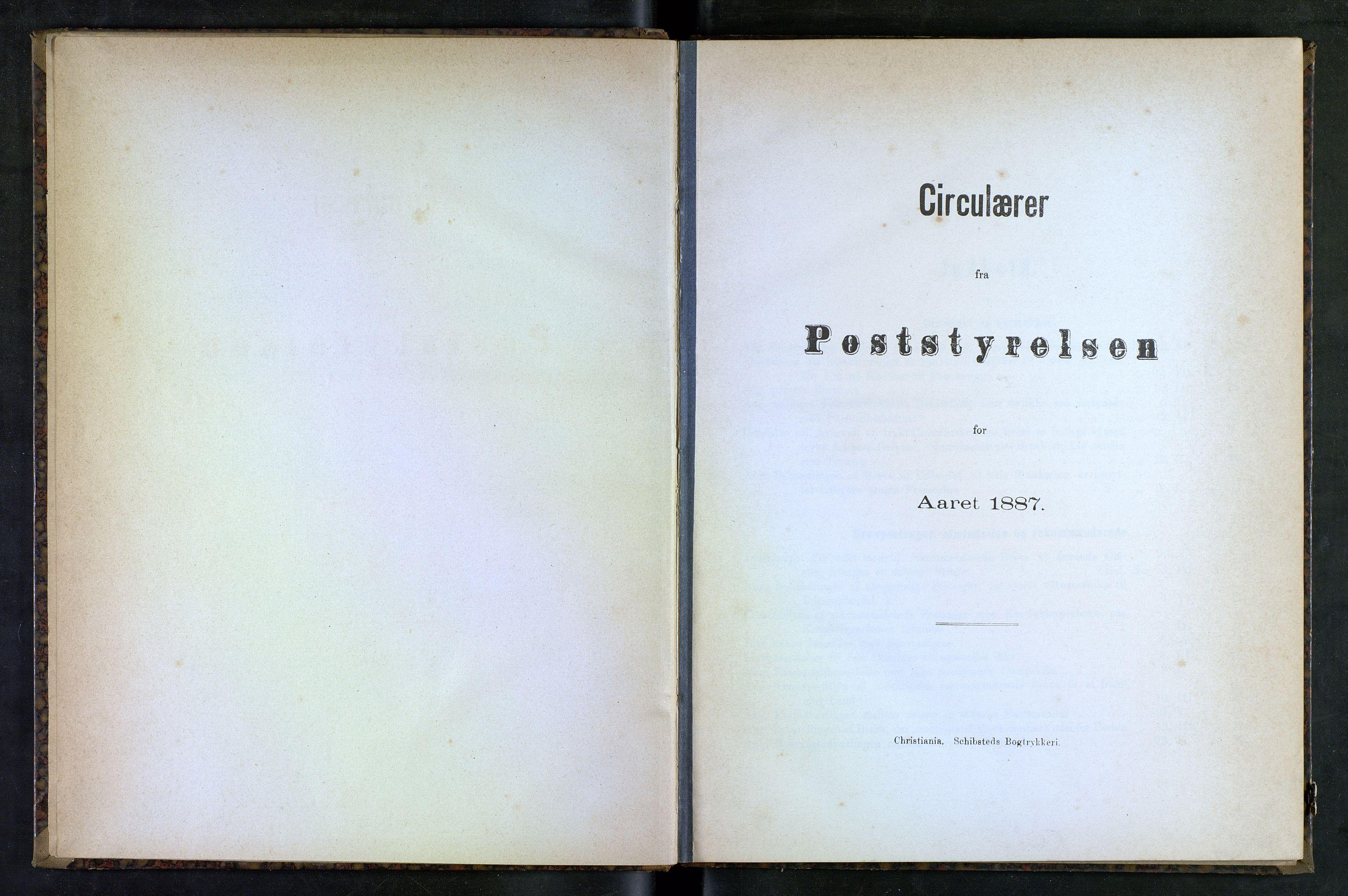 NOPO, Norges Postmuseums bibliotek, -/-: Sirkulærer fra Poststyrelsen, 1887