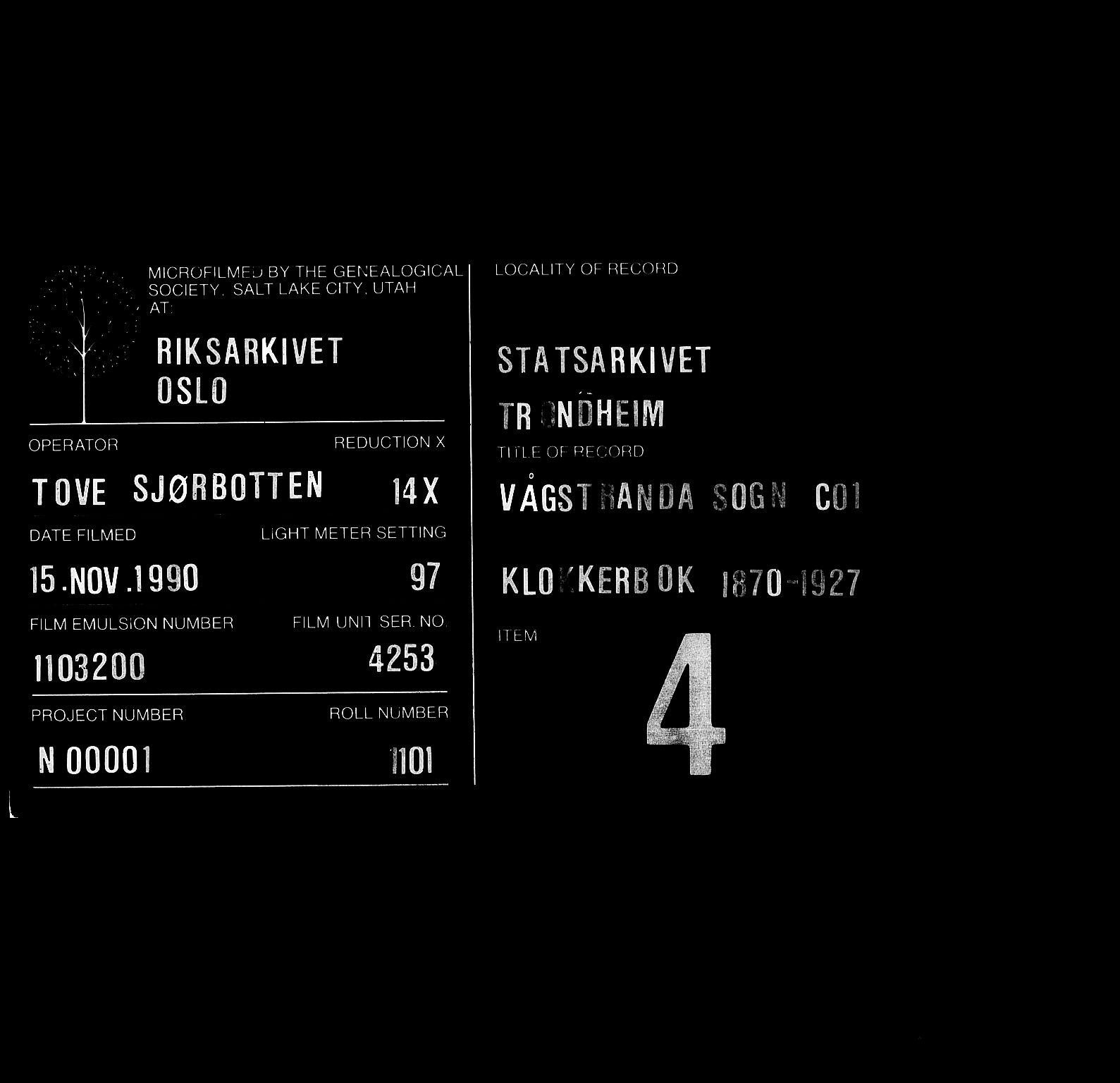 SAT, Ministerialprotokoller, klokkerbøker og fødselsregistre - Møre og Romsdal, 550/L0618: Klokkerbok nr. 550C01, 1870-1927