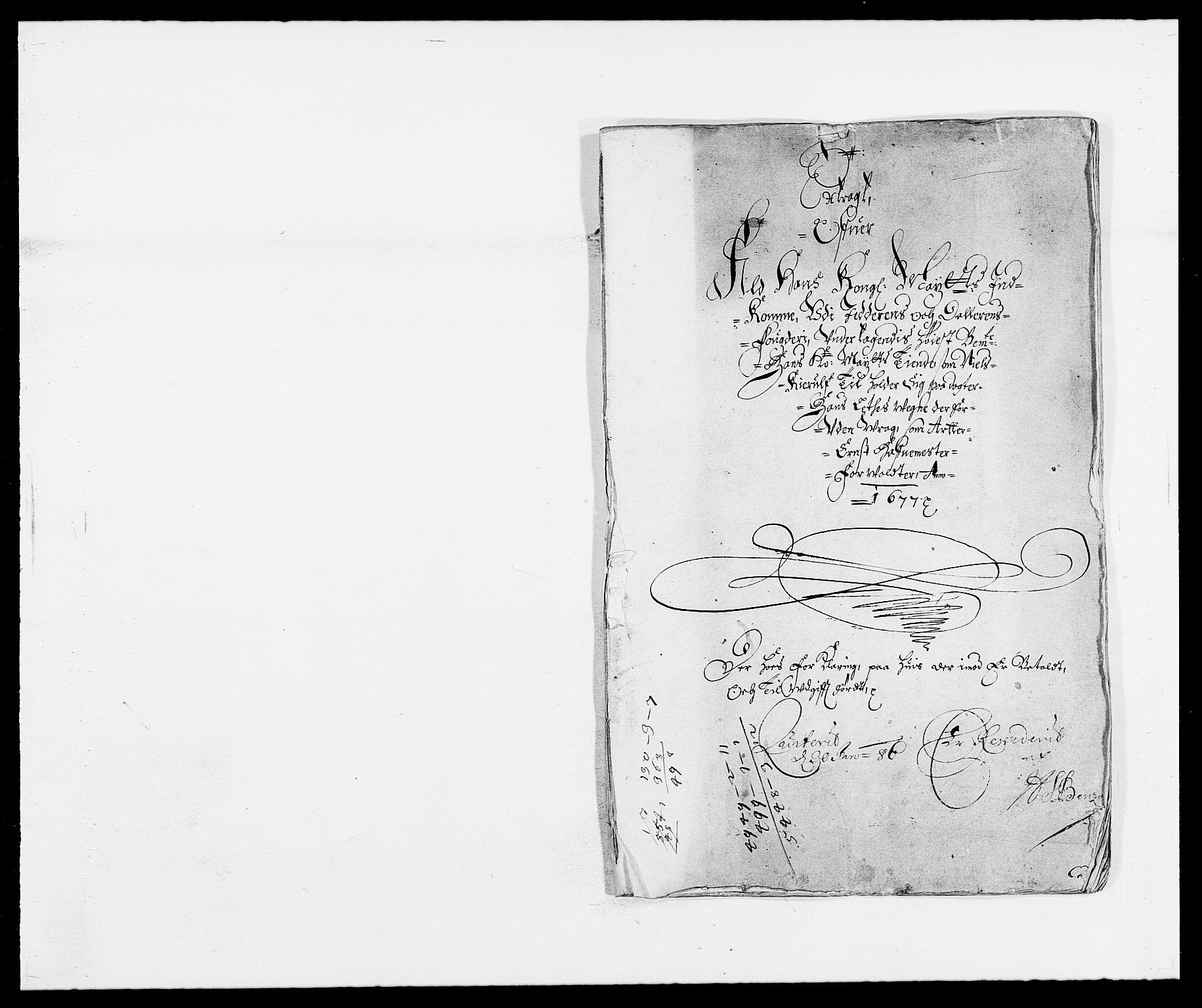 RA, Rentekammeret inntil 1814, Reviderte regnskaper, Fogderegnskap, R46/L2717: Fogderegnskap Jæren og Dalane, 1677, s. 1