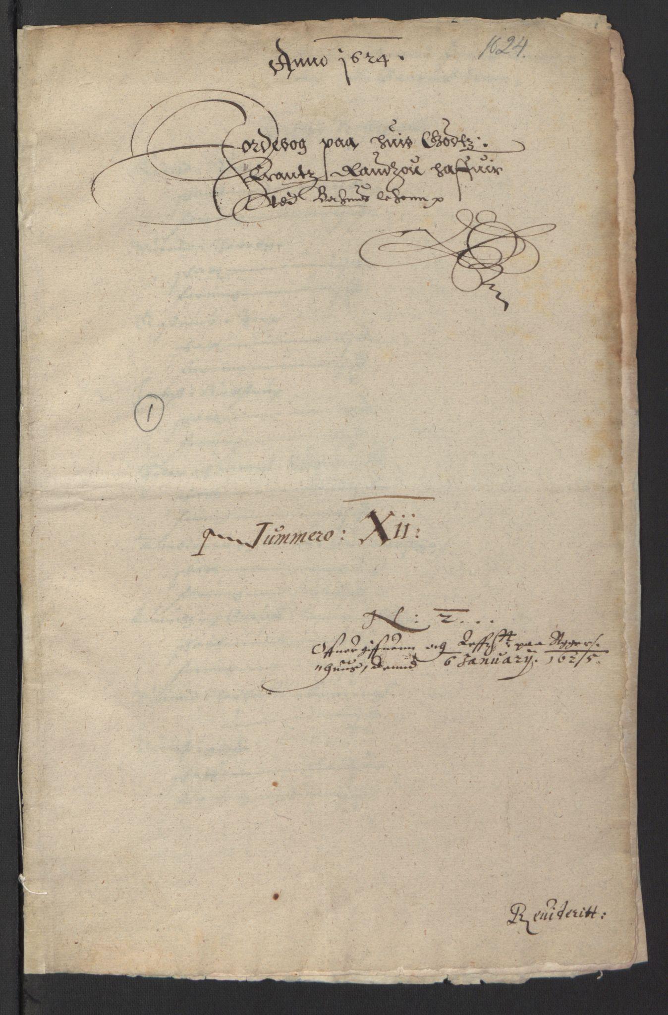 RA, Stattholderembetet 1572-1771, Ek/L0007: Jordebøker til utlikning av rosstjeneste 1624-1626:, 1624-1625, s. 293