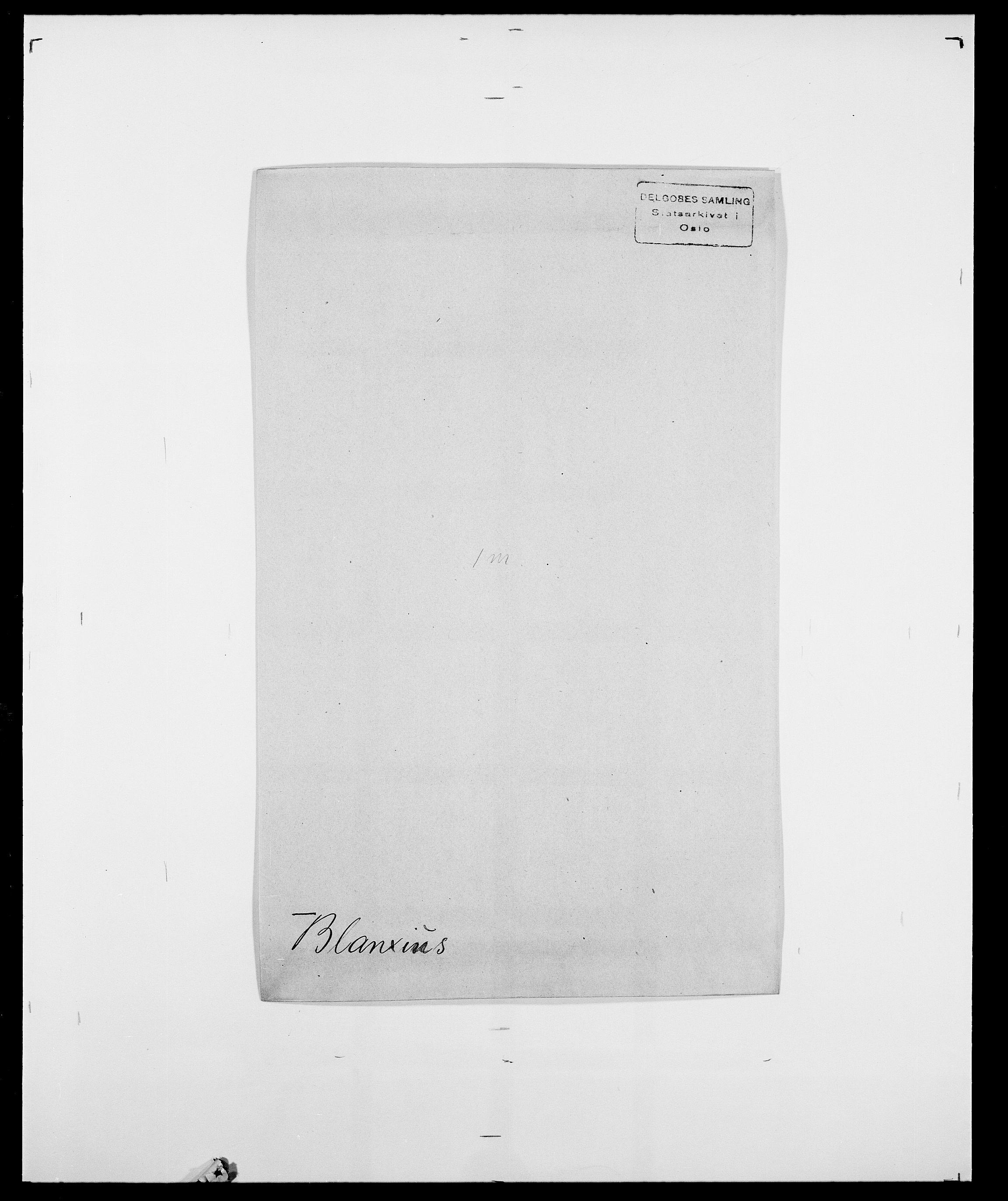 SAO, Delgobe, Charles Antoine - samling, D/Da/L0004: Bergendahl - Blære, s. 541