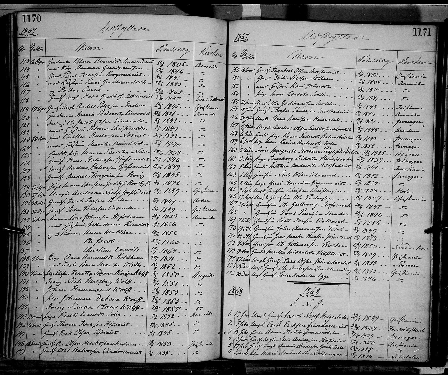 SAH, Gran prestekontor, Ministerialbok nr. 12, 1856-1874, s. 1170-1171