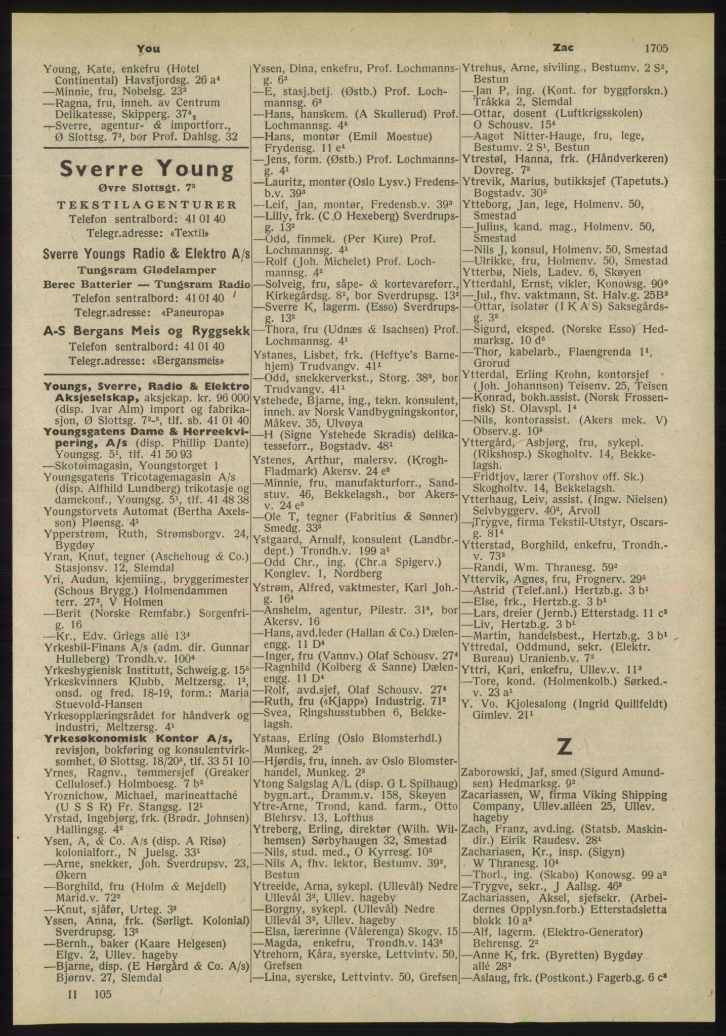 RA, Oslo adressebok (publikasjon)*, 1955, s. 1705