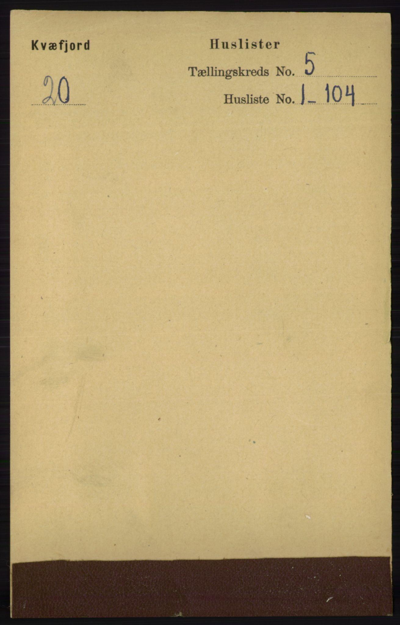 RA, Folketelling 1891 for 1911 Kvæfjord herred, 1891, s. 2764