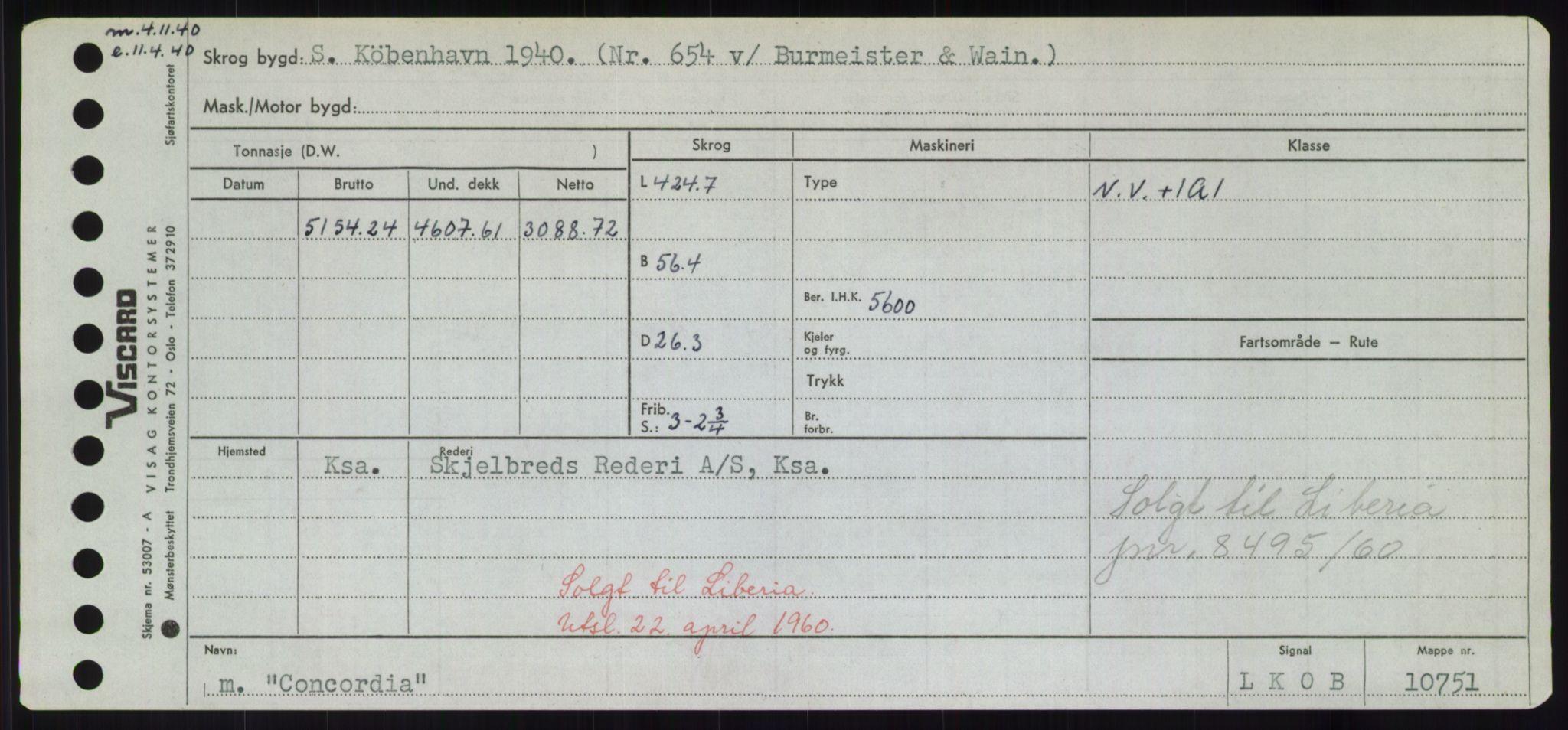 RA, Sjøfartsdirektoratet med forløpere, Skipsmålingen, H/Hd/L0008: Fartøy, C-D, s. 147