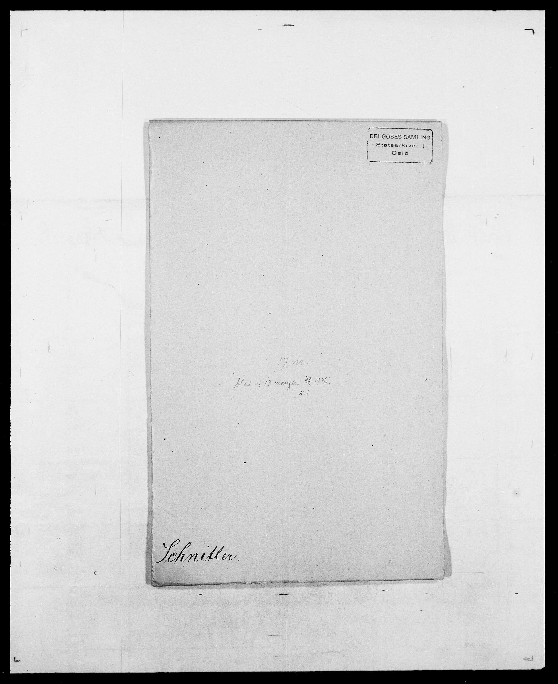 SAO, Delgobe, Charles Antoine - samling, D/Da/L0035: Schnabel - sjetman, s. 43