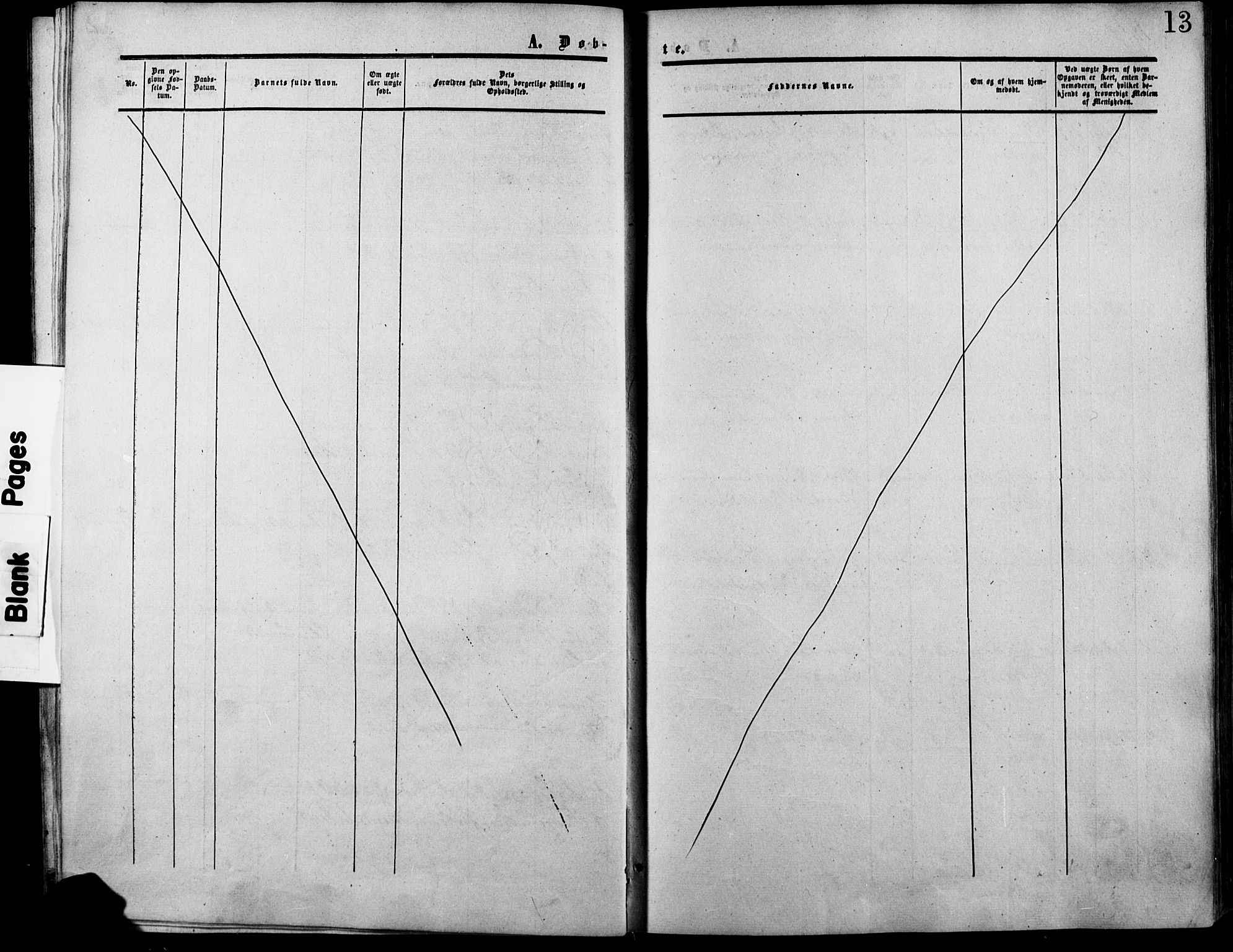 SAH, Lesja prestekontor, Ministerialbok nr. 7, 1854-1862, s. 13