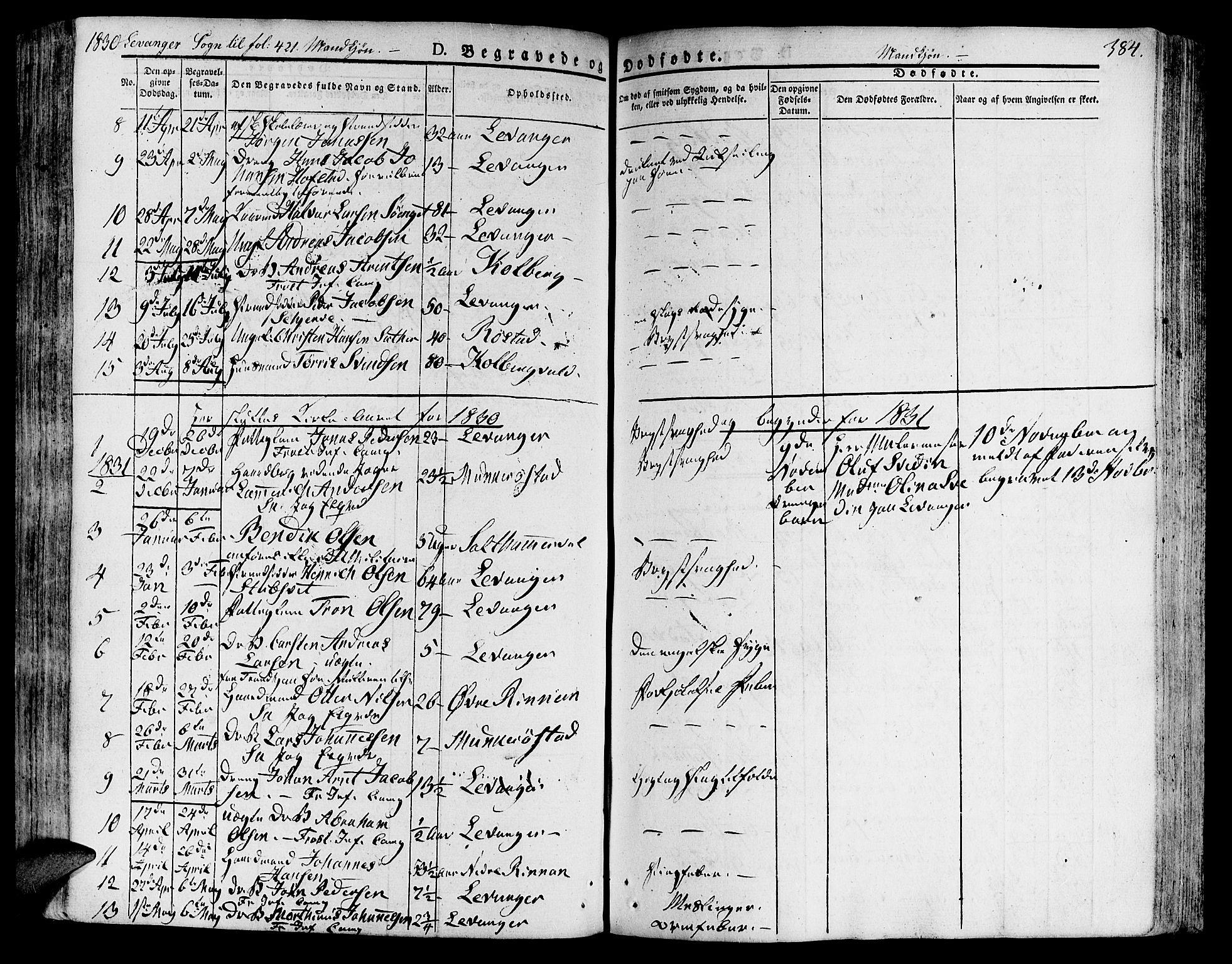 SAT, Ministerialprotokoller, klokkerbøker og fødselsregistre - Nord-Trøndelag, 717/L0152: Ministerialbok nr. 717A05 /3, 1828-1836, s. 384