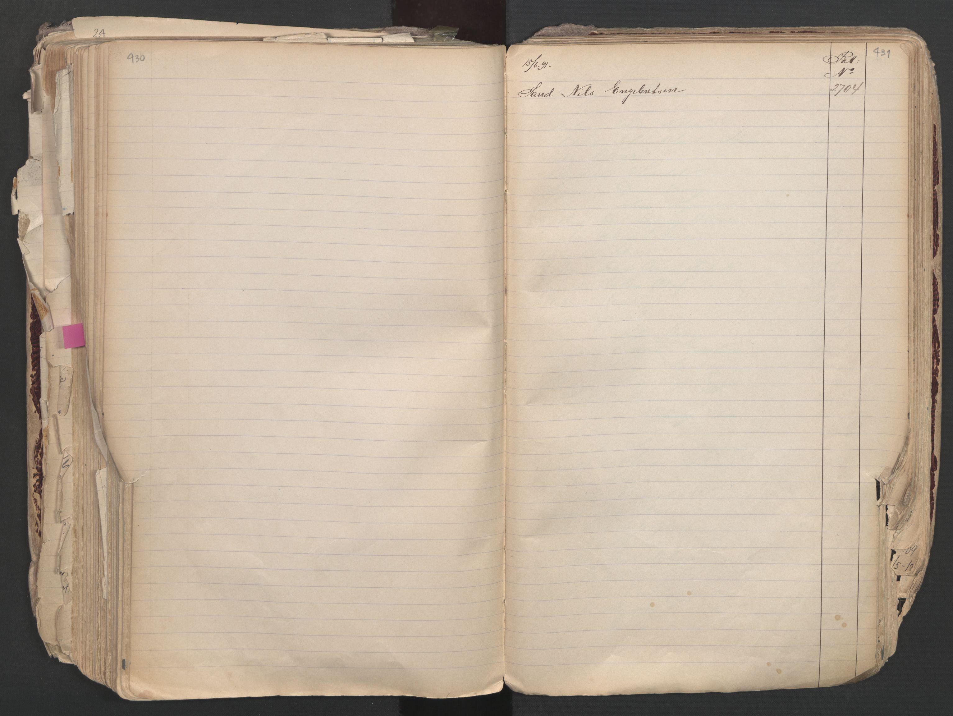 SAO, Oslo sjømannskontor, F/Fa/L0003: Register for Oslo mønstringskrets, 1891-1948, s. 430-431