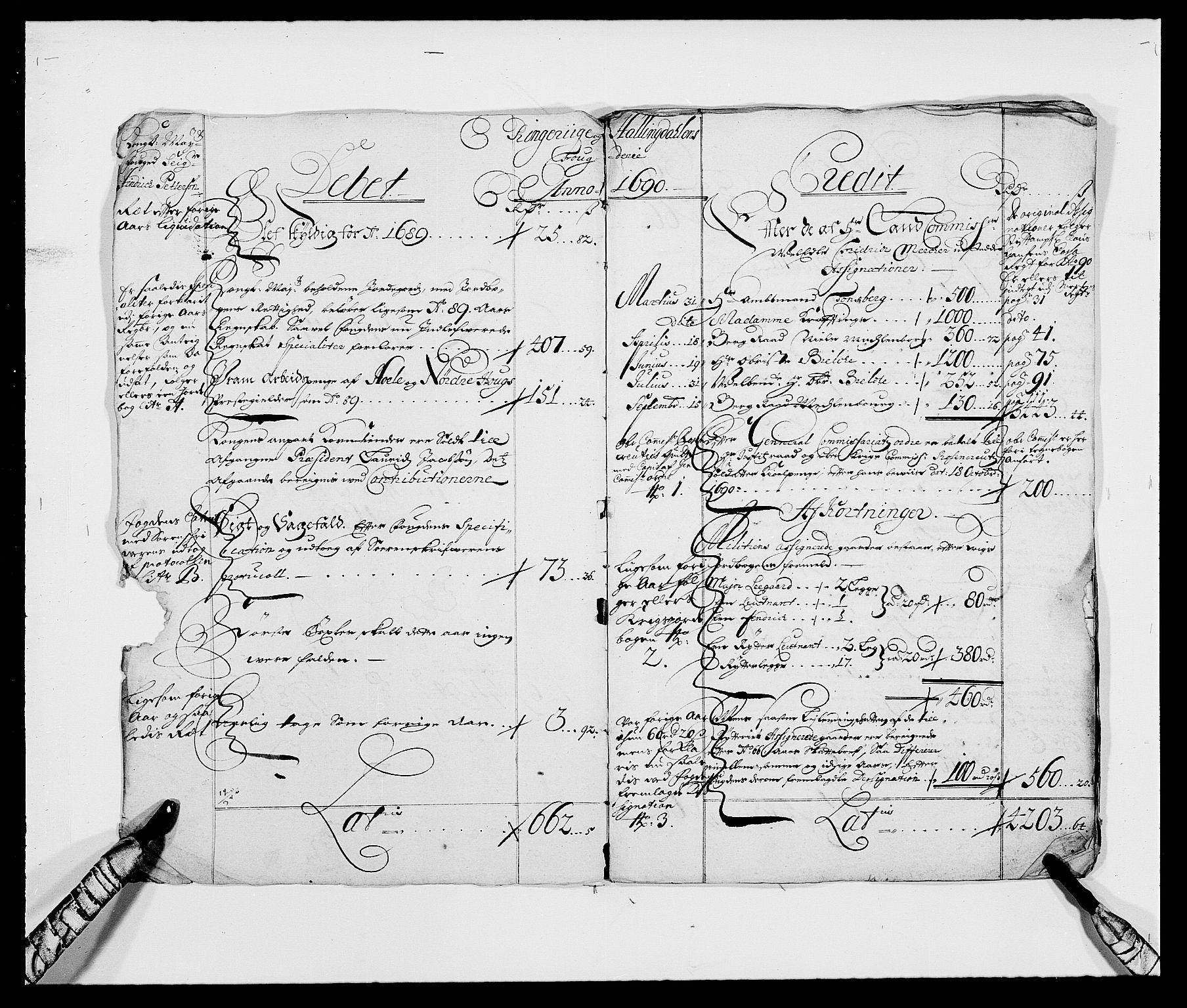 RA, Rentekammeret inntil 1814, Reviderte regnskaper, Fogderegnskap, R21/L1448: Fogderegnskap Ringerike og Hallingdal, 1690-1692, s. 2