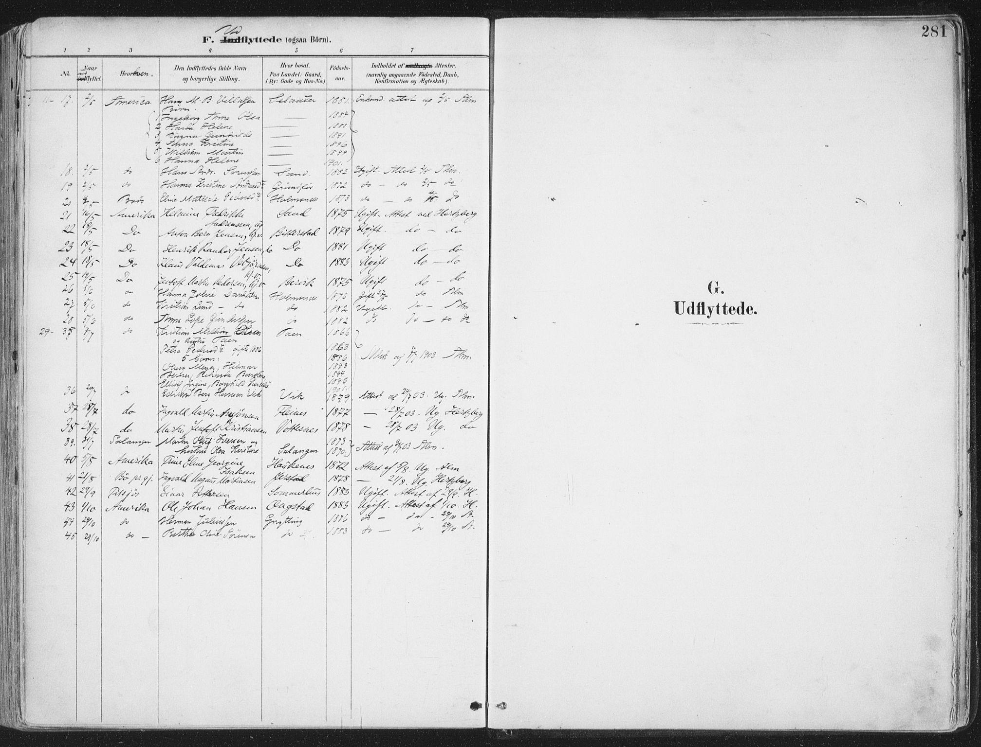 SAT, Ministerialprotokoller, klokkerbøker og fødselsregistre - Nordland, 888/L1246: Ministerialbok nr. 888A12, 1891-1903, s. 281