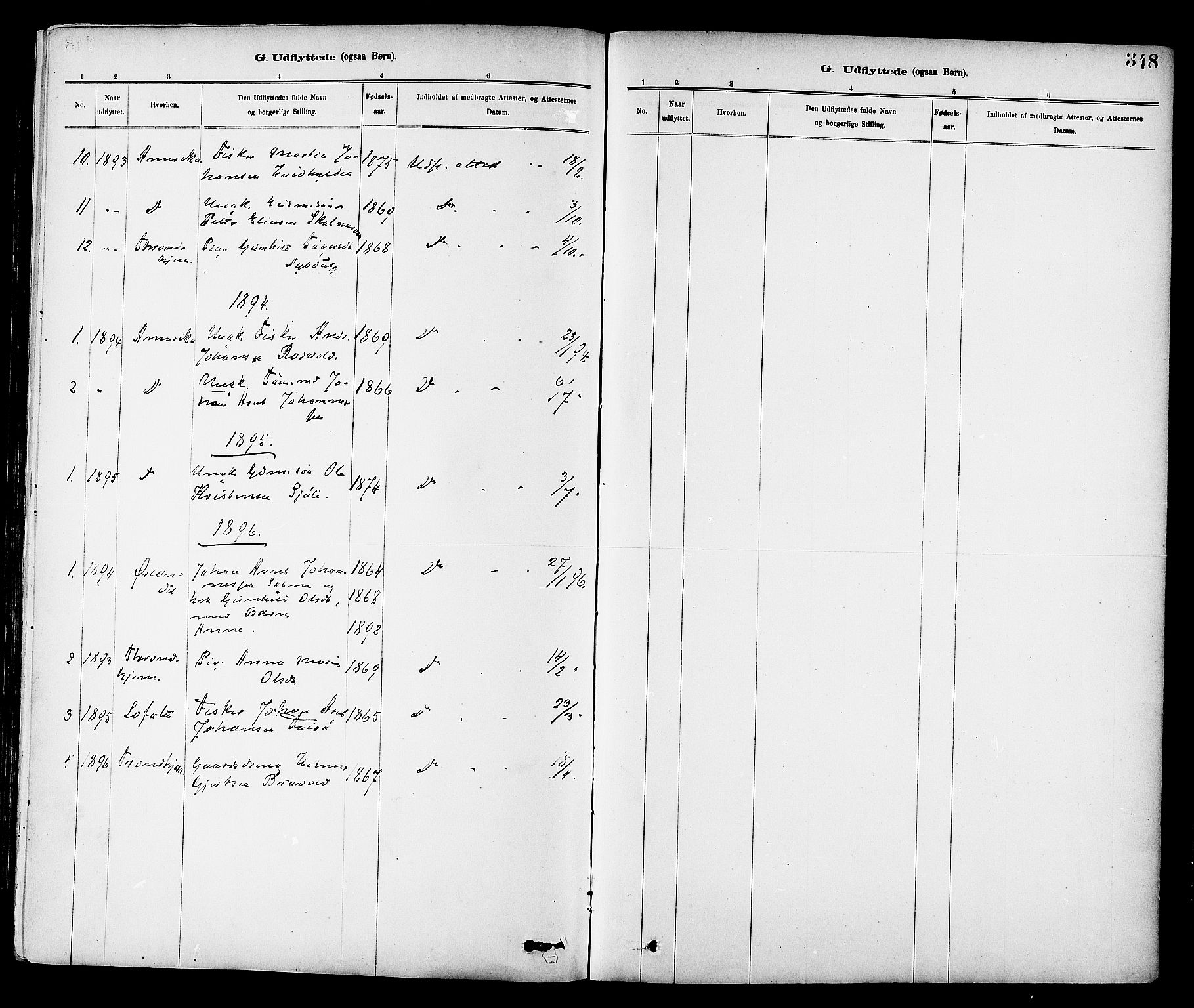 SAT, Ministerialprotokoller, klokkerbøker og fødselsregistre - Sør-Trøndelag, 647/L0634: Ministerialbok nr. 647A01, 1885-1896, s. 348
