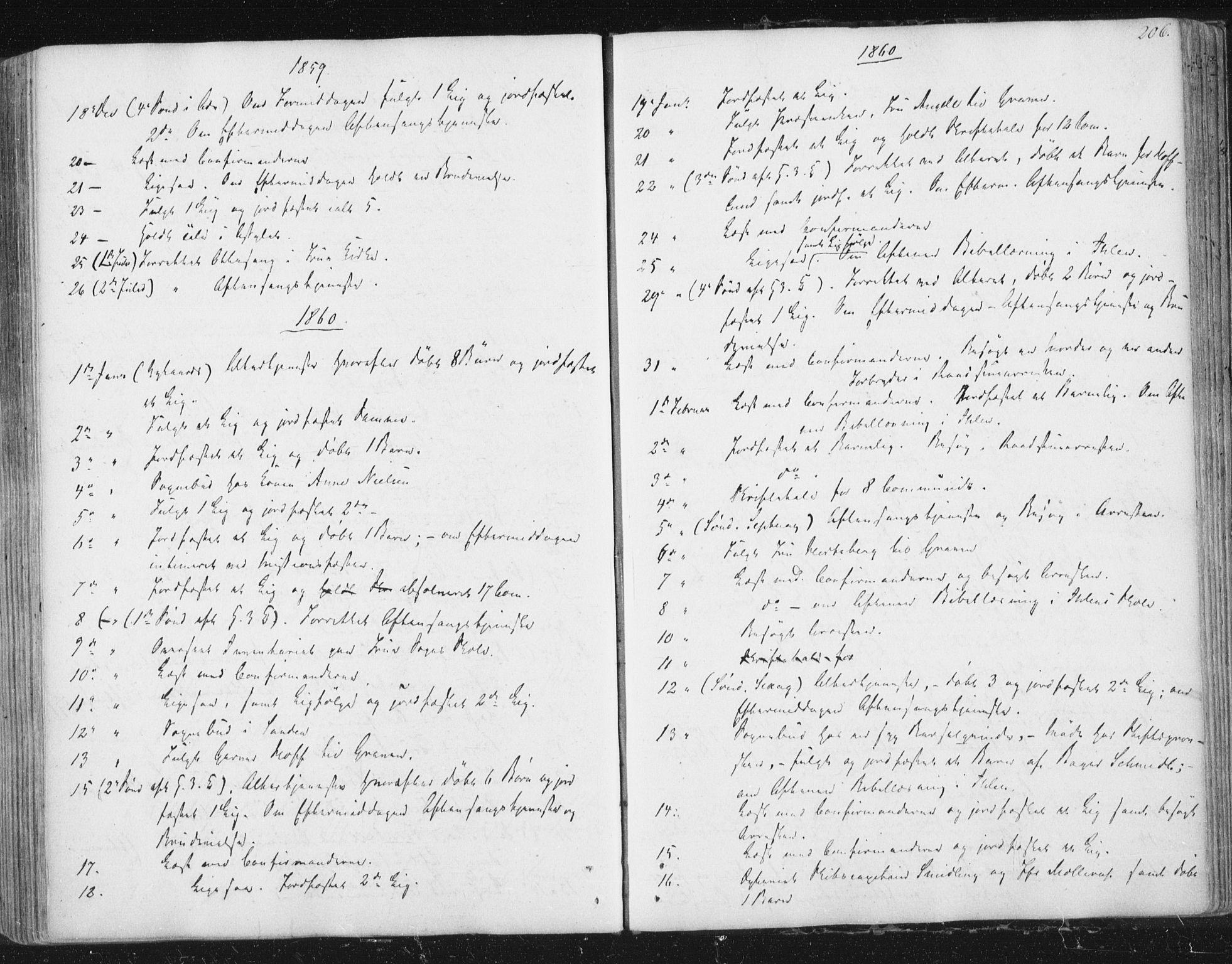 SAT, Ministerialprotokoller, klokkerbøker og fødselsregistre - Sør-Trøndelag, 602/L0127: Residerende kapellans bok nr. 602B01, 1821-1875, s. 206