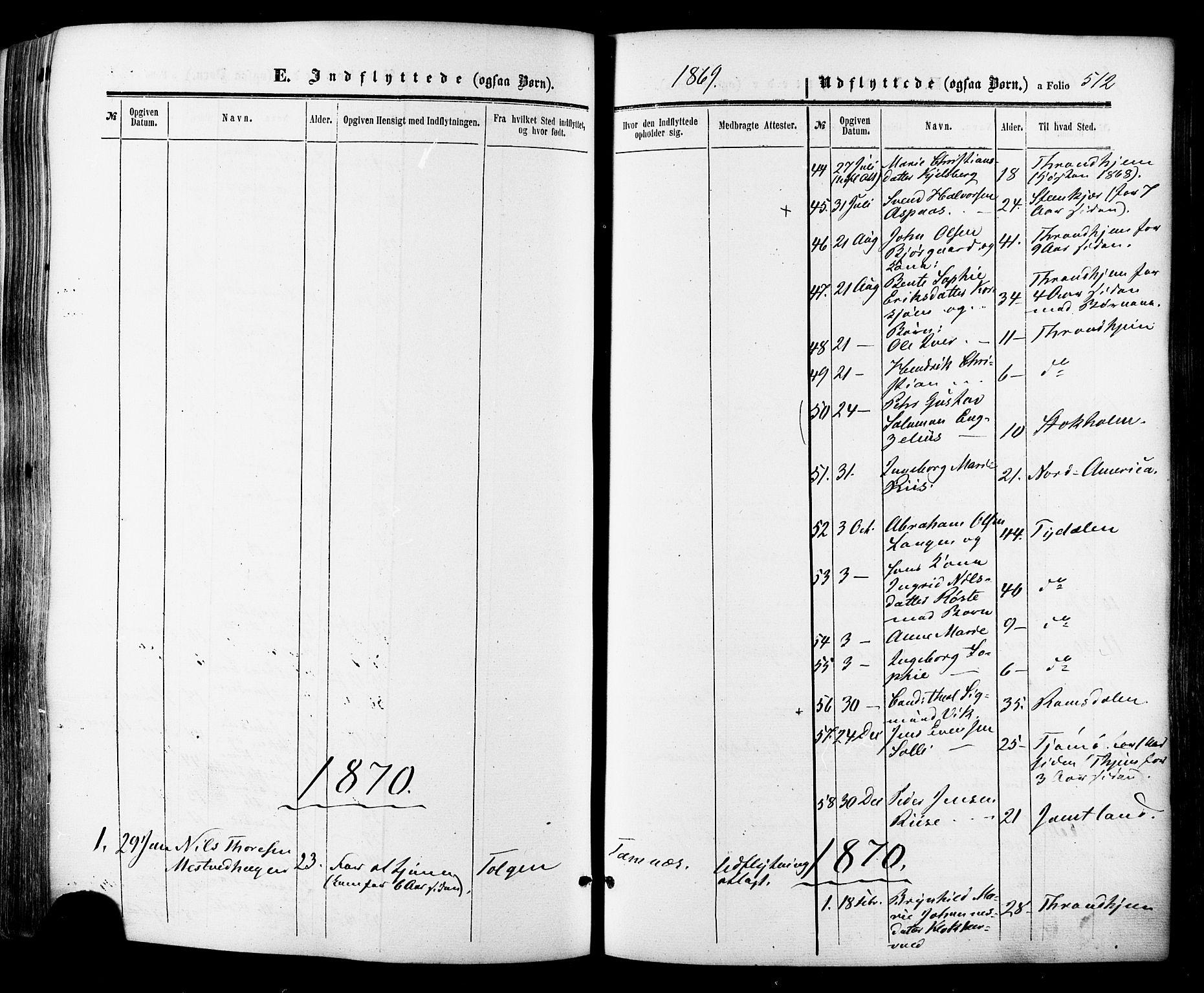 SAT, Ministerialprotokoller, klokkerbøker og fødselsregistre - Sør-Trøndelag, 681/L0932: Ministerialbok nr. 681A10, 1860-1878, s. 512