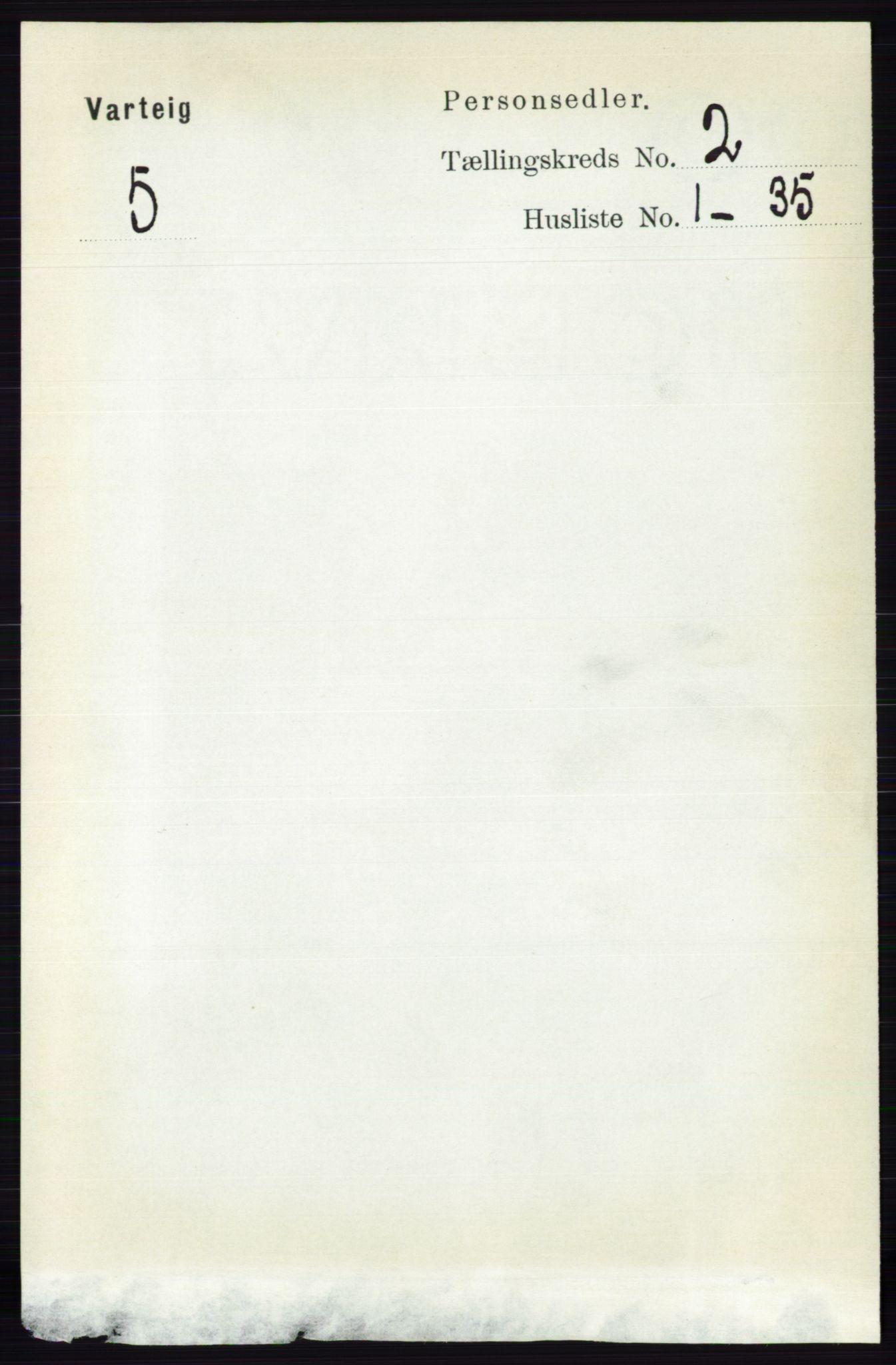 RA, Folketelling 1891 for 0114 Varteig herred, 1891, s. 580