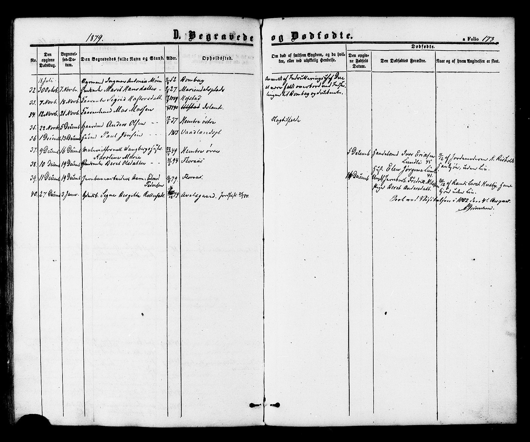 SAT, Ministerialprotokoller, klokkerbøker og fødselsregistre - Nord-Trøndelag, 703/L0029: Ministerialbok nr. 703A02, 1863-1879, s. 173