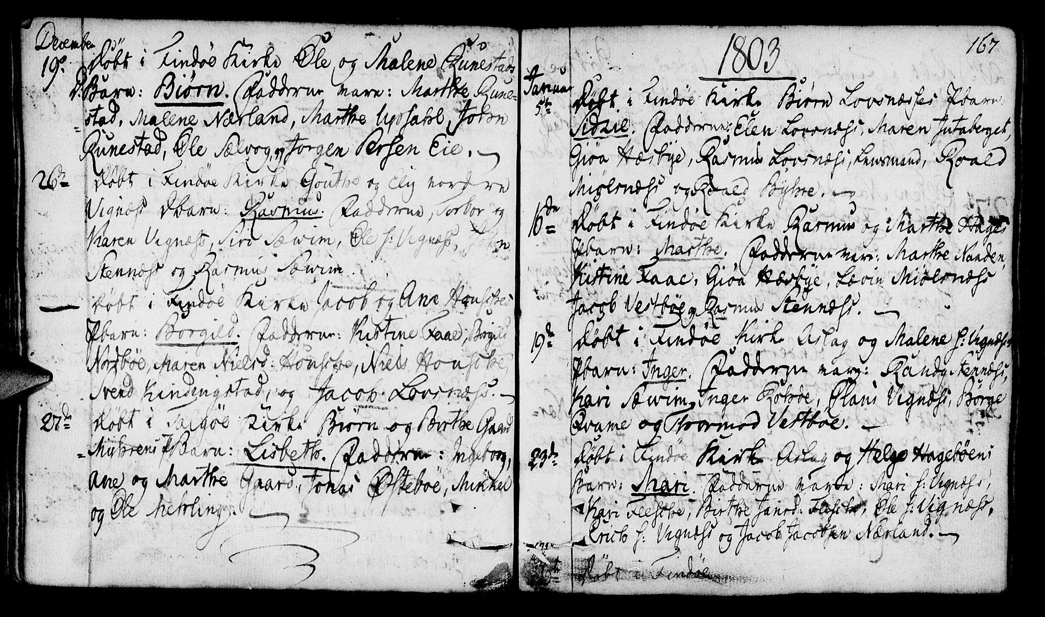 SAST, Finnøy sokneprestkontor, H/Ha/Haa/L0005: Ministerialbok nr. A 5, 1773-1816, s. 167