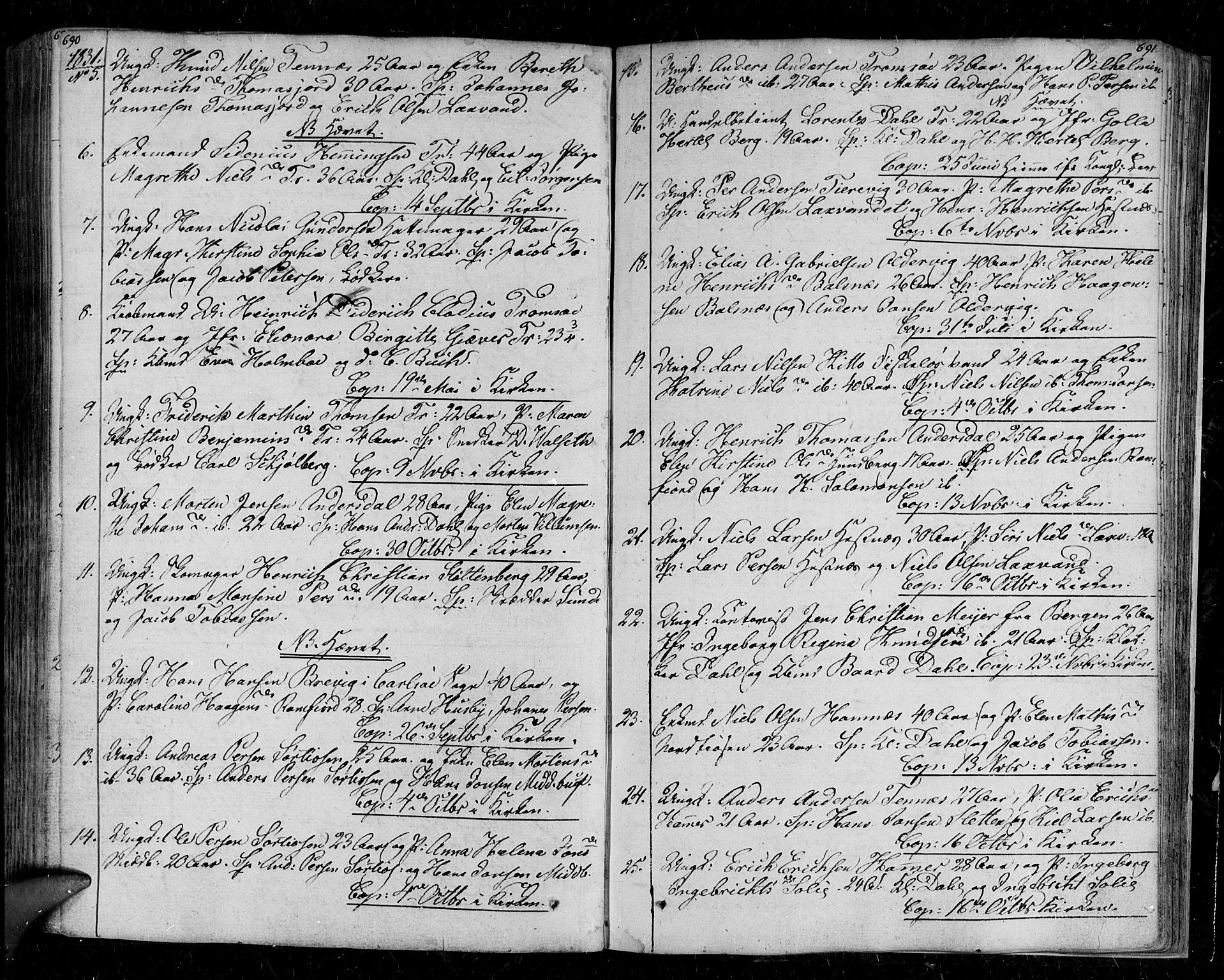 SATØ, Tromsø sokneprestkontor/stiftsprosti/domprosti, G/Ga/L0008kirke: Ministerialbok nr. 8, 1829-1837, s. 690-691