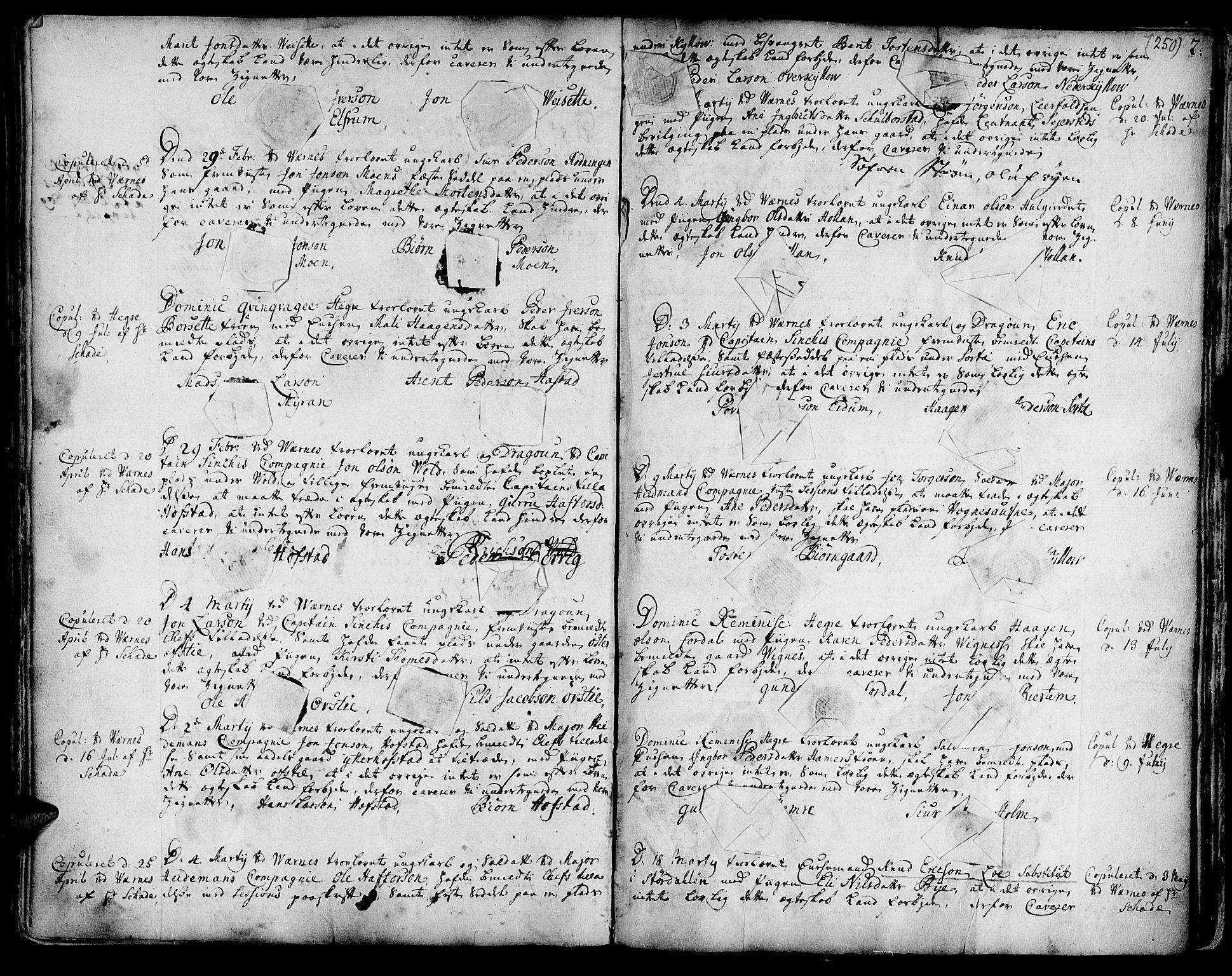 SAT, Ministerialprotokoller, klokkerbøker og fødselsregistre - Nord-Trøndelag, 709/L0056: Ministerialbok nr. 709A04, 1740-1756, s. 250